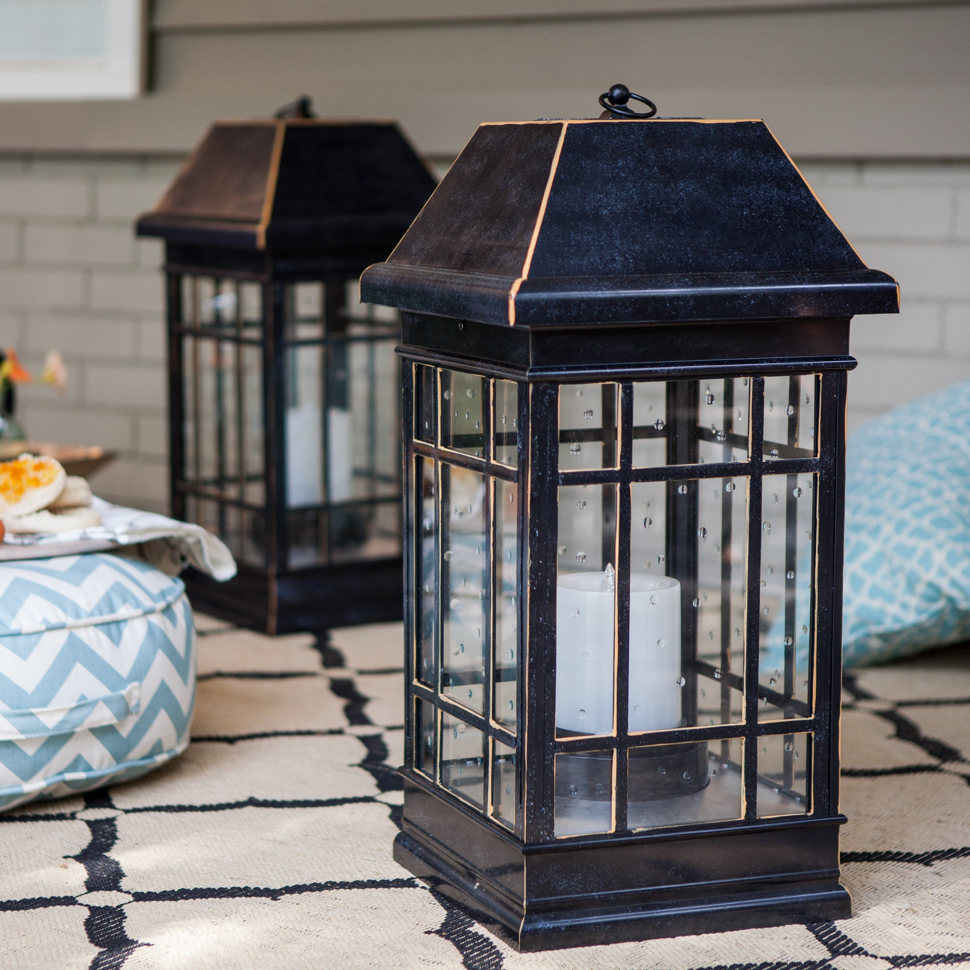 2019 Large Outdoor Decorative Lanterns In Smart Solar San Rafael Estate Solar Mission Lantern (Gallery 5 of 20)