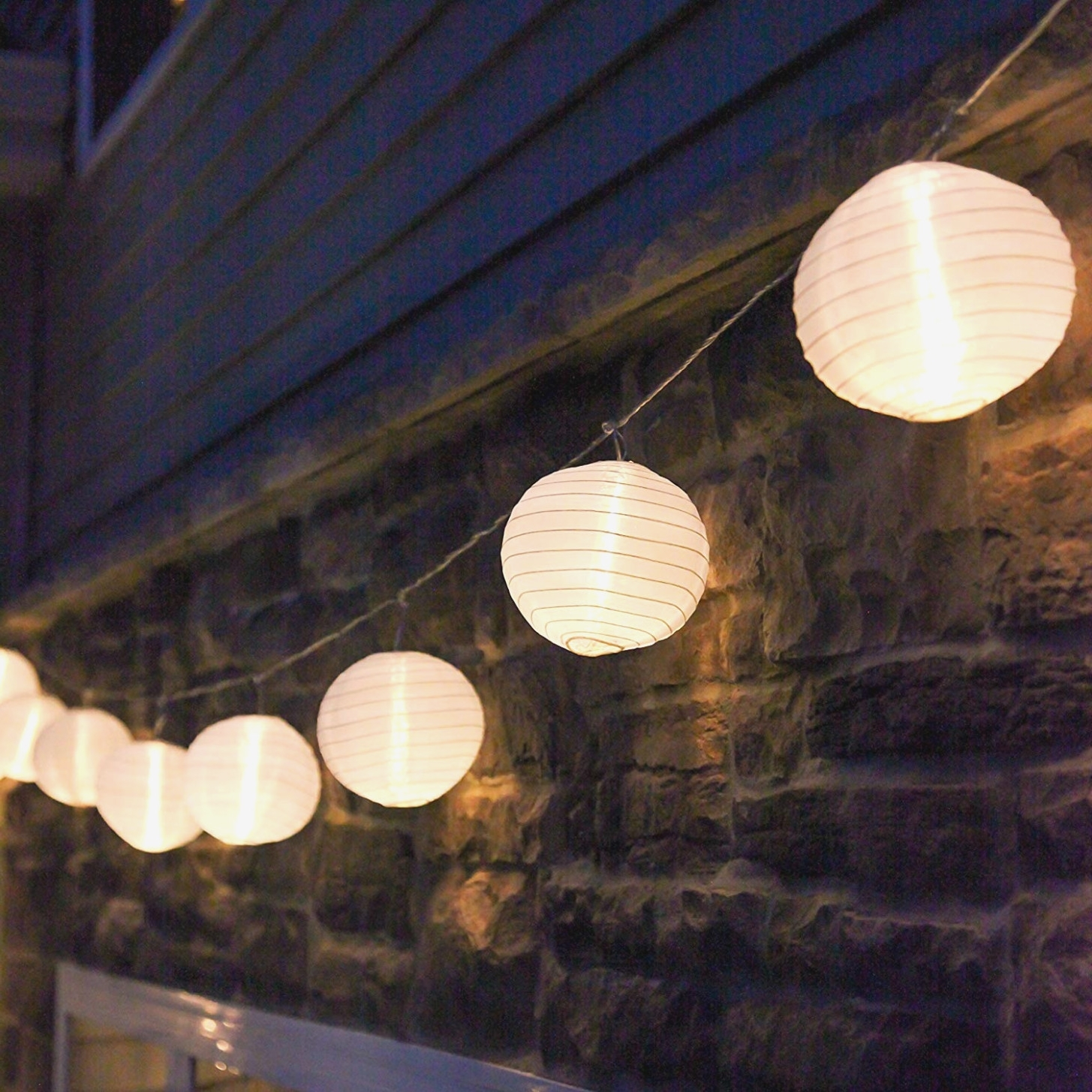 2019 Outdoor Chinese Lanterns For Patio With Amazon: 40 Ft. White Outdoor String Light, 40 Mini Lanterns, 40 (Gallery 18 of 20)