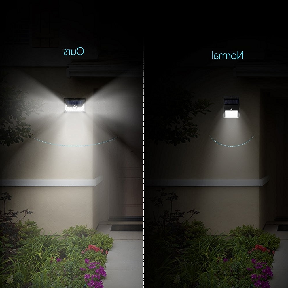 2019 Outdoor Driveway Lanterns With Regard To Litom 24 Led Solar Light Wide Angle Security Motion Sensor Light (View 2 of 20)