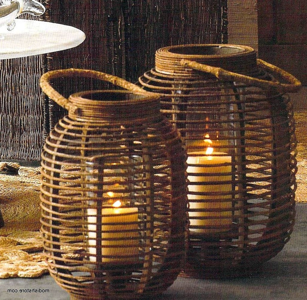 2019 Outdoor Rattan Lanterns Intended For Roost Woodacre Lanterns (View 14 of 20)
