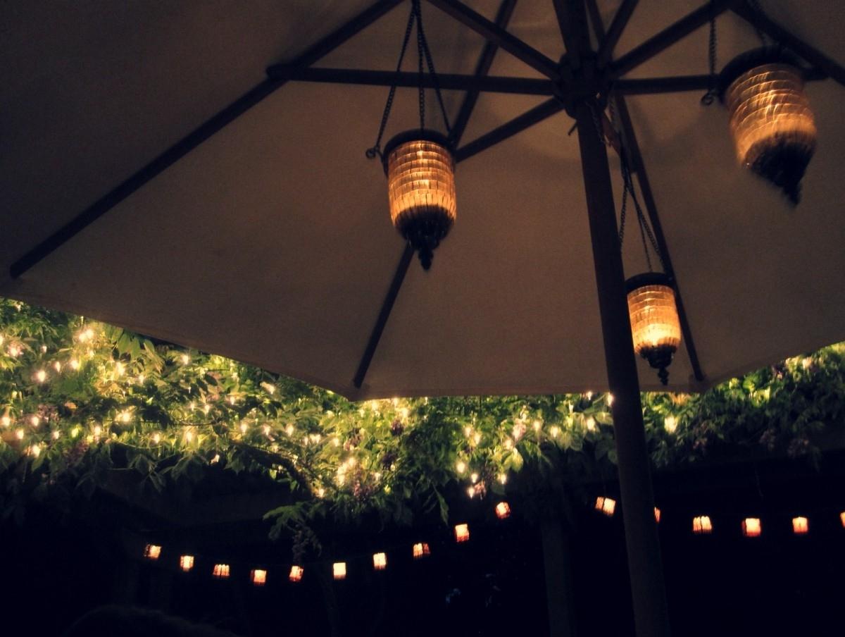 2019 Patio Umbrella Lights Pertaining To Unique Patio Umbrella Lights — Wilson Home Ideas : Beautiful Patio (View 2 of 20)