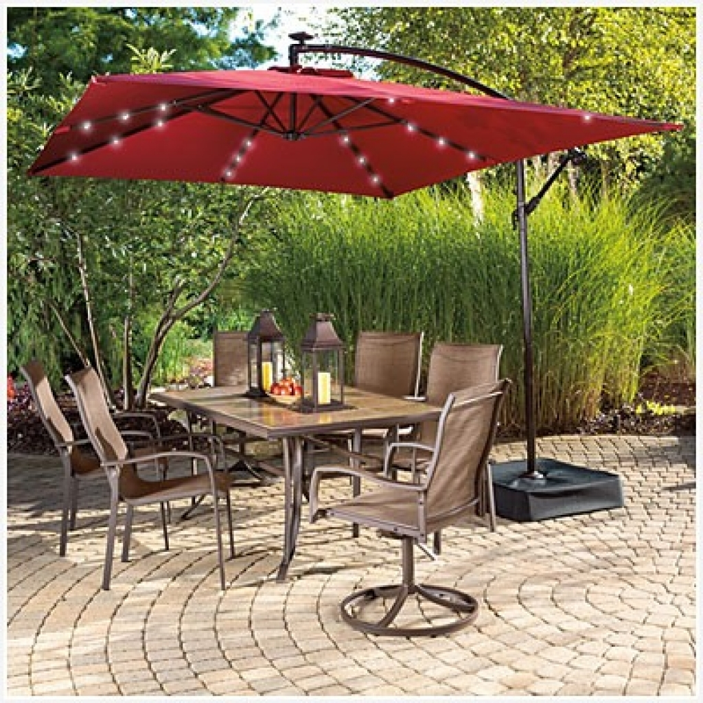 2019 Patio Umbrellas Ej Tropical Outlet Inc Sunbrella Custom Ideas Inside Sunbrella Patio Umbrellas With Solar Lights (View 12 of 20)