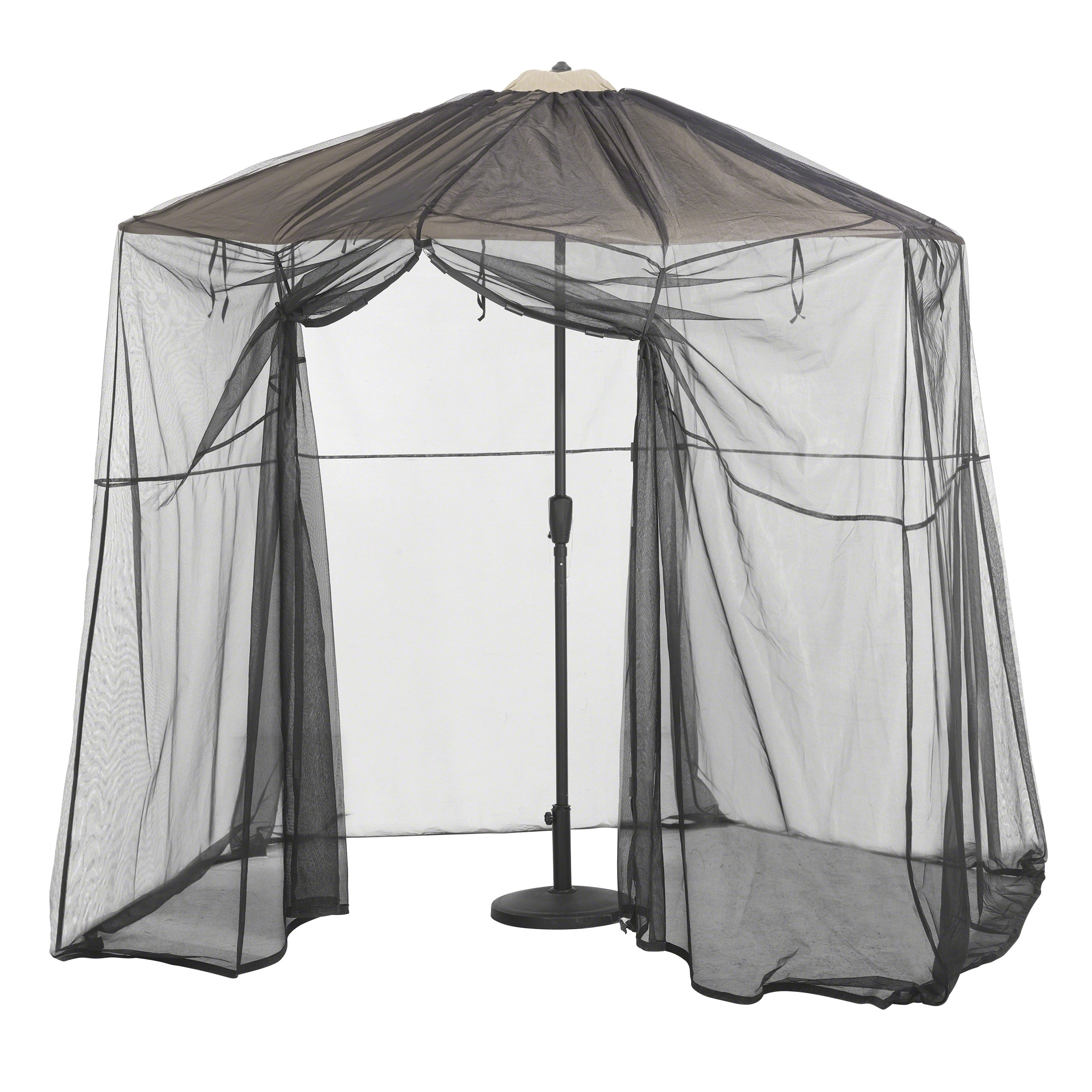 2019 Patio Umbrellas With Netting Pertaining To Classic Accessories Patio Umbrella Mosquito Net Canpoy – Umbrella (View 2 of 20)
