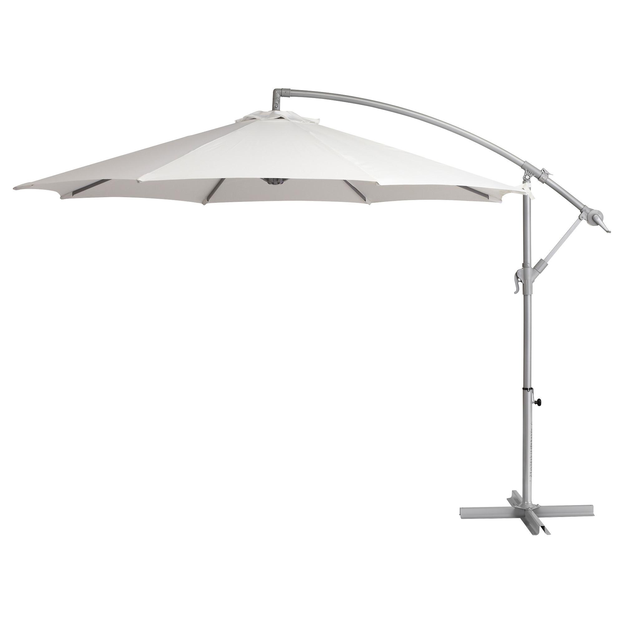 2019 White Patio Umbrellas With Regard To 49 Ikea Patio Umbrella, Svart Umbrella Base Ikea (View 19 of 20)