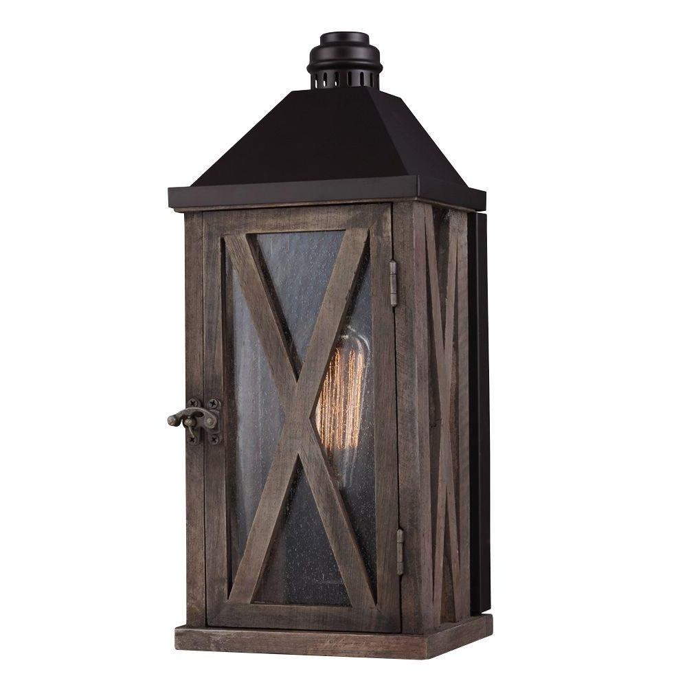 2019 Wood – Outdoor Lanterns & Sconces – Outdoor Wall Mounted Lighting With Outdoor Wood Lanterns (View 2 of 20)