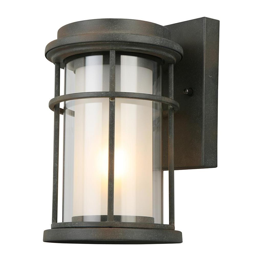 2019 Zinc Outdoor Lanterns Inside Eglo Helendale 1 Light Zinc Outdoor Wall Mount Lantern 203023a – The (View 9 of 20)