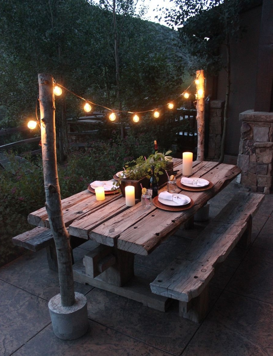 25 Great Ideas For Creating A Unique Outdoor Dining (Gallery 1 of 20)