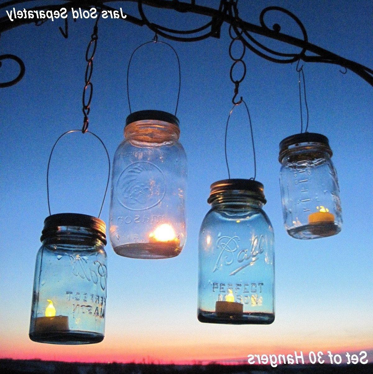30 Candle Lantern Lids Diy Wedding Mason Jar Lanterns Hanging Design Pertaining To 2019 Outdoor Jar Lanterns (View 8 of 20)
