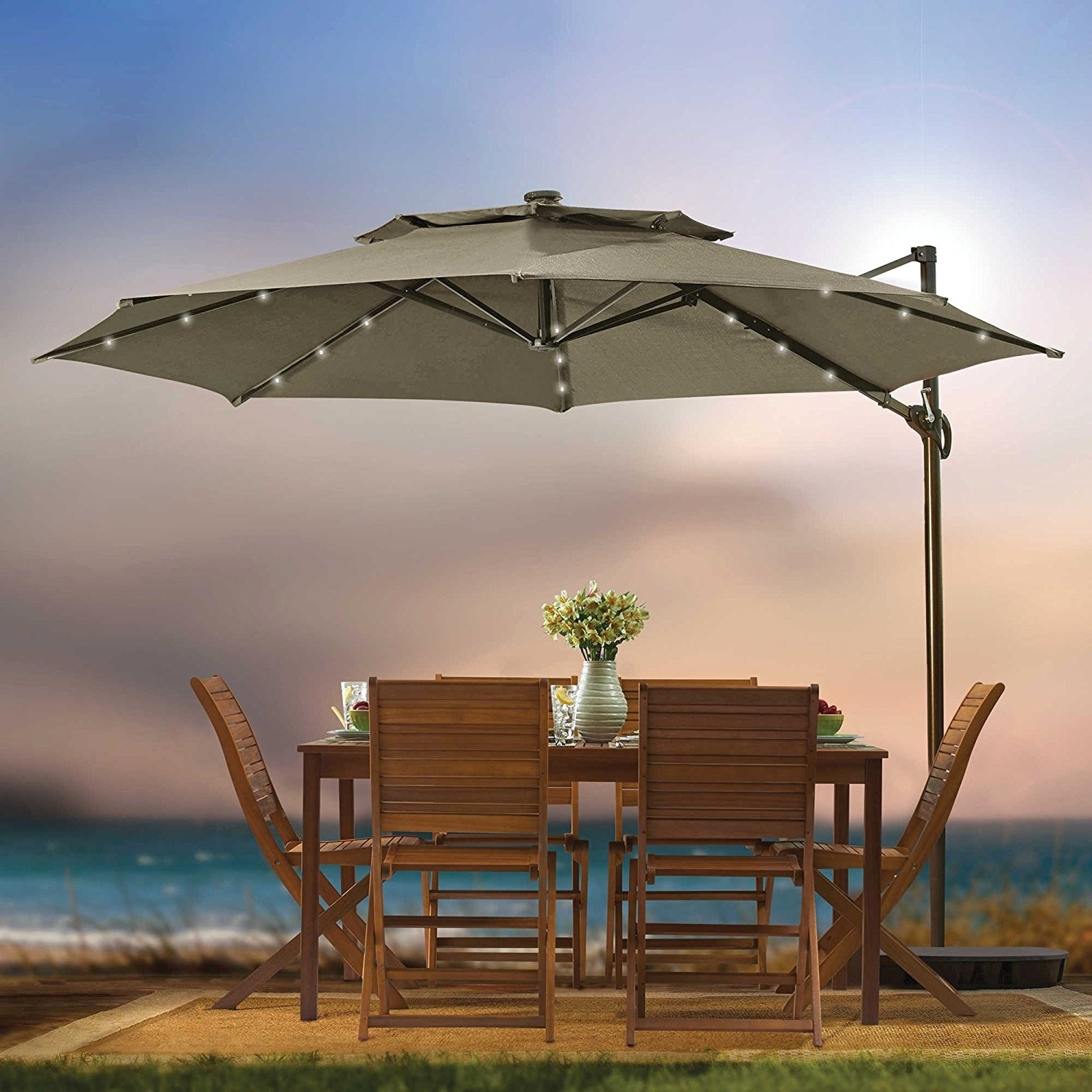 4 6 Foot Patio Umbrellas Awesome Amazon Sundale Outdoor 9 Feet Steel Pertaining To Most Popular Unusual Patio Umbrellas (View 10 of 20)