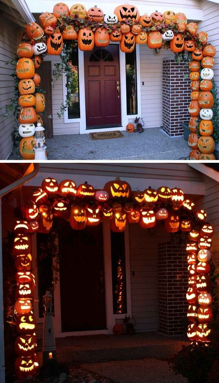 482 Best Halloween Decor Images On Pinterest From Outdoor Halloween Inside Most Up To Date Outdoor Pumpkin Lanterns (View 2 of 20)