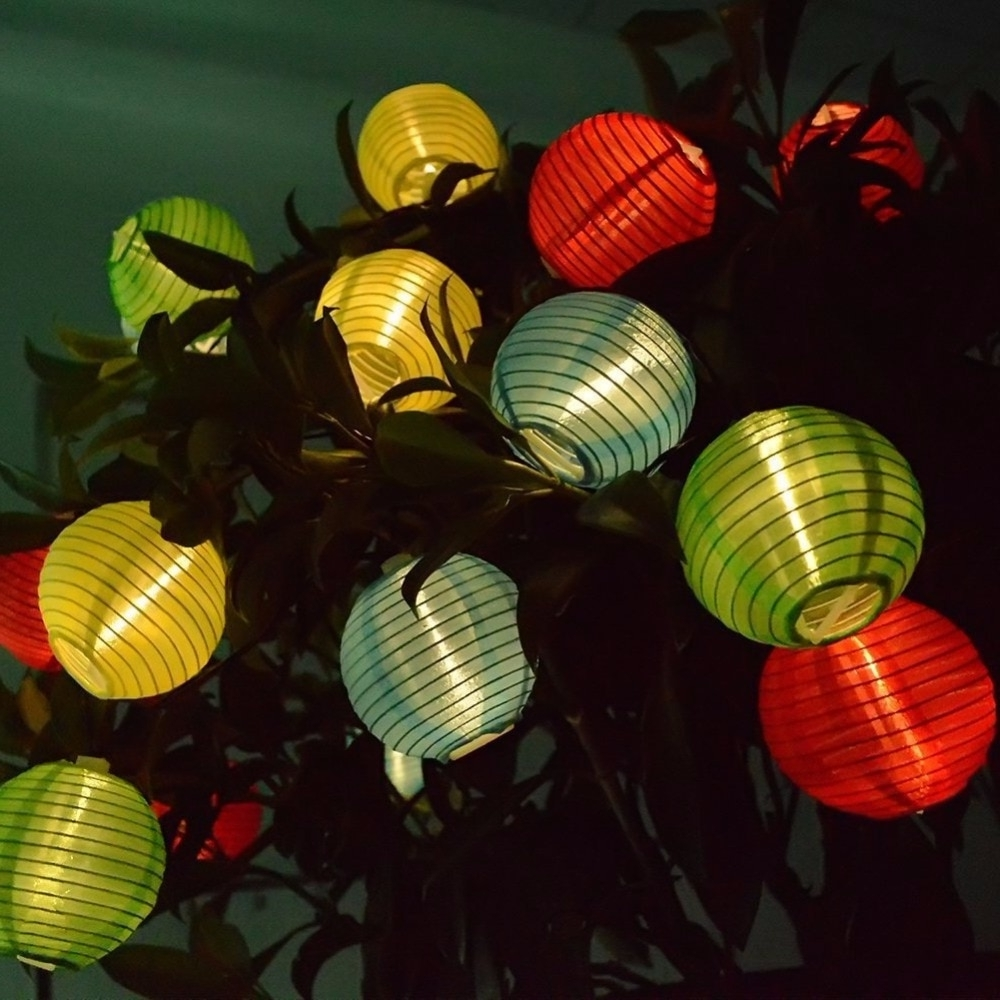 4m 20 Led Solar Powered Holiday Lights Chinese Hanging Lantern Lamp With Widely Used Outdoor Vietnamese Lanterns (View 3 of 20)