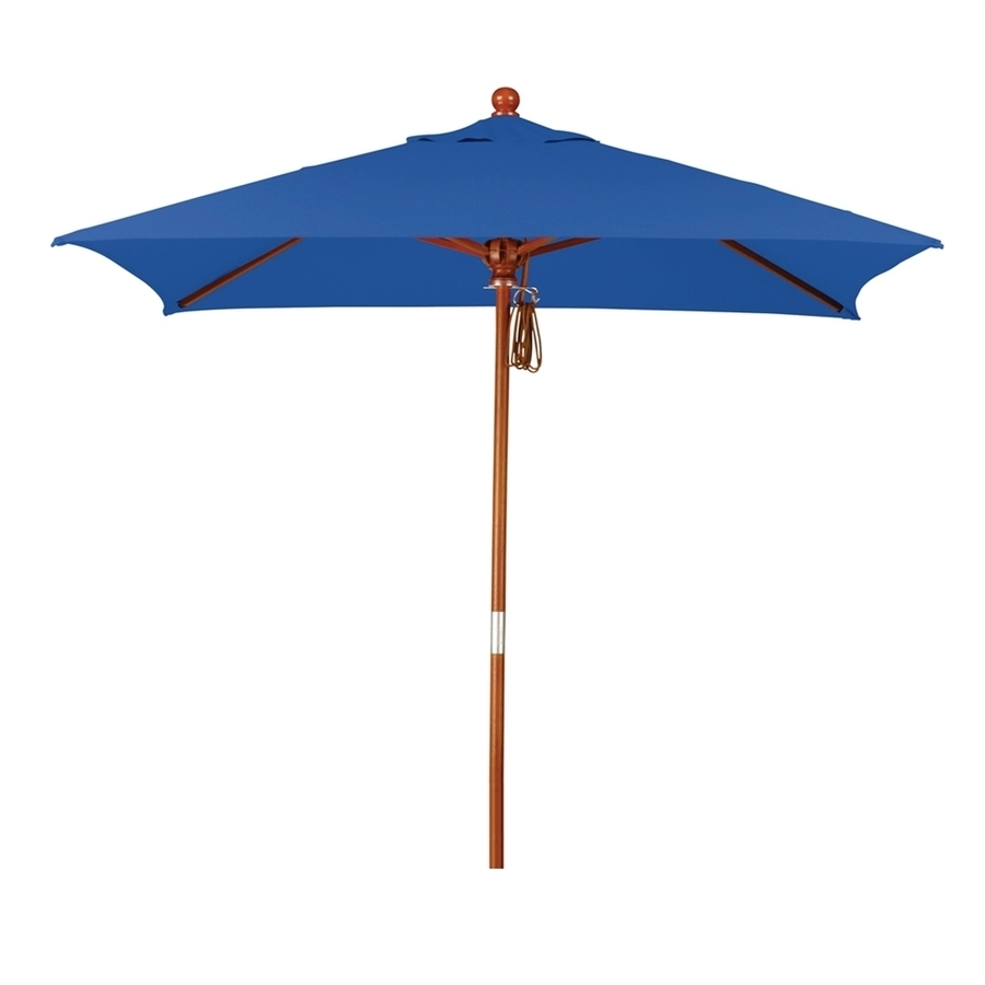 6 Ft Patio Umbrellas With Regard To Best And Newest Shop California Umbrella Mare Pacific Blue Market 6 Ft Patio (View 4 of 20)