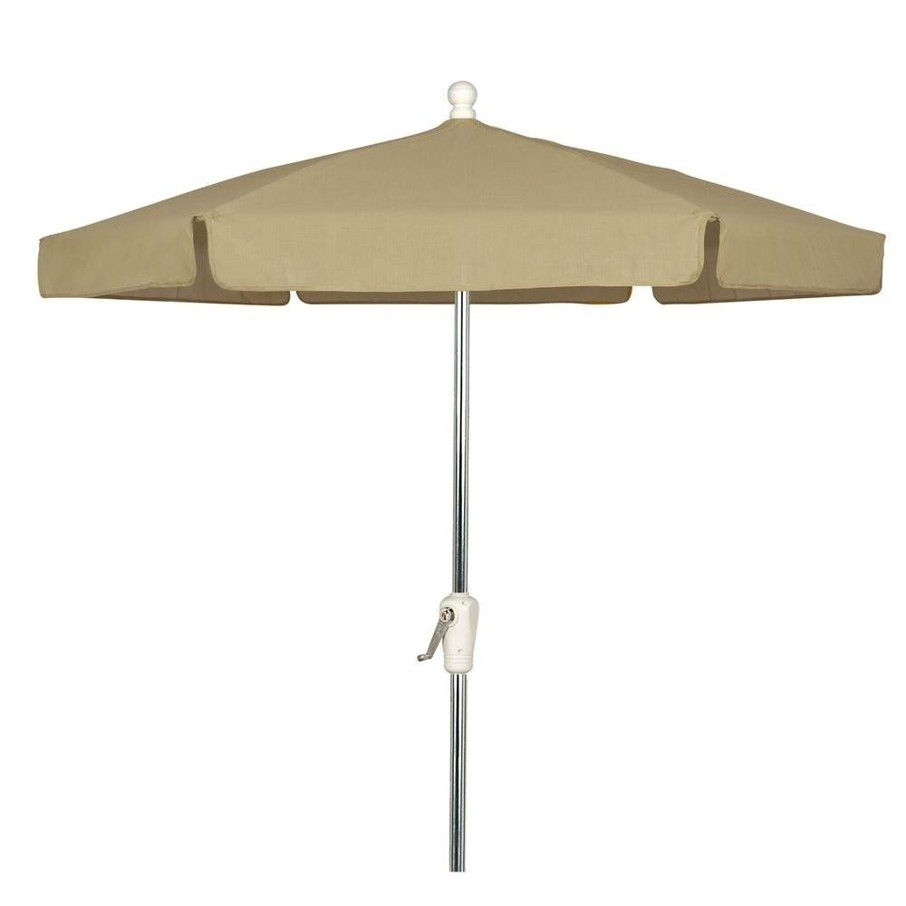 7.5 Ft. Aluminum Patio Umbrella With Beige Vinyl Coated Weave 7Gcra Throughout Most Popular Vinyl Patio Umbrellas (Gallery 4 of 20)