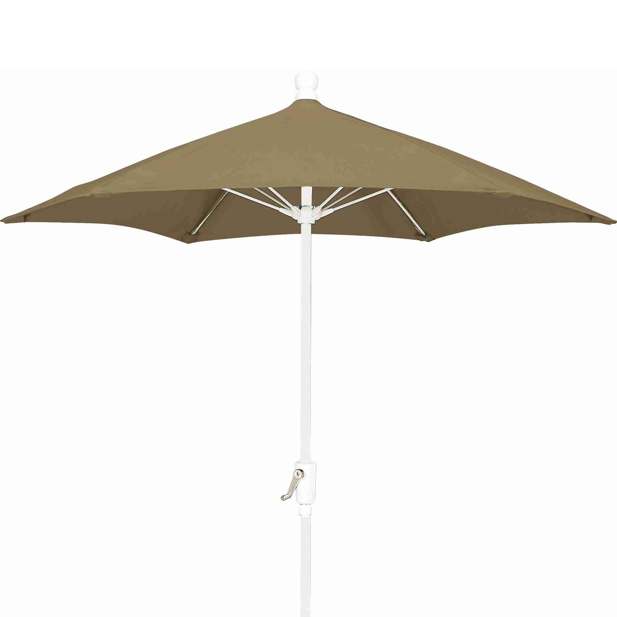 7.5 Ft Crank Lift Market Style Patio Umbrella With White Pole (Gallery 11 of 20)