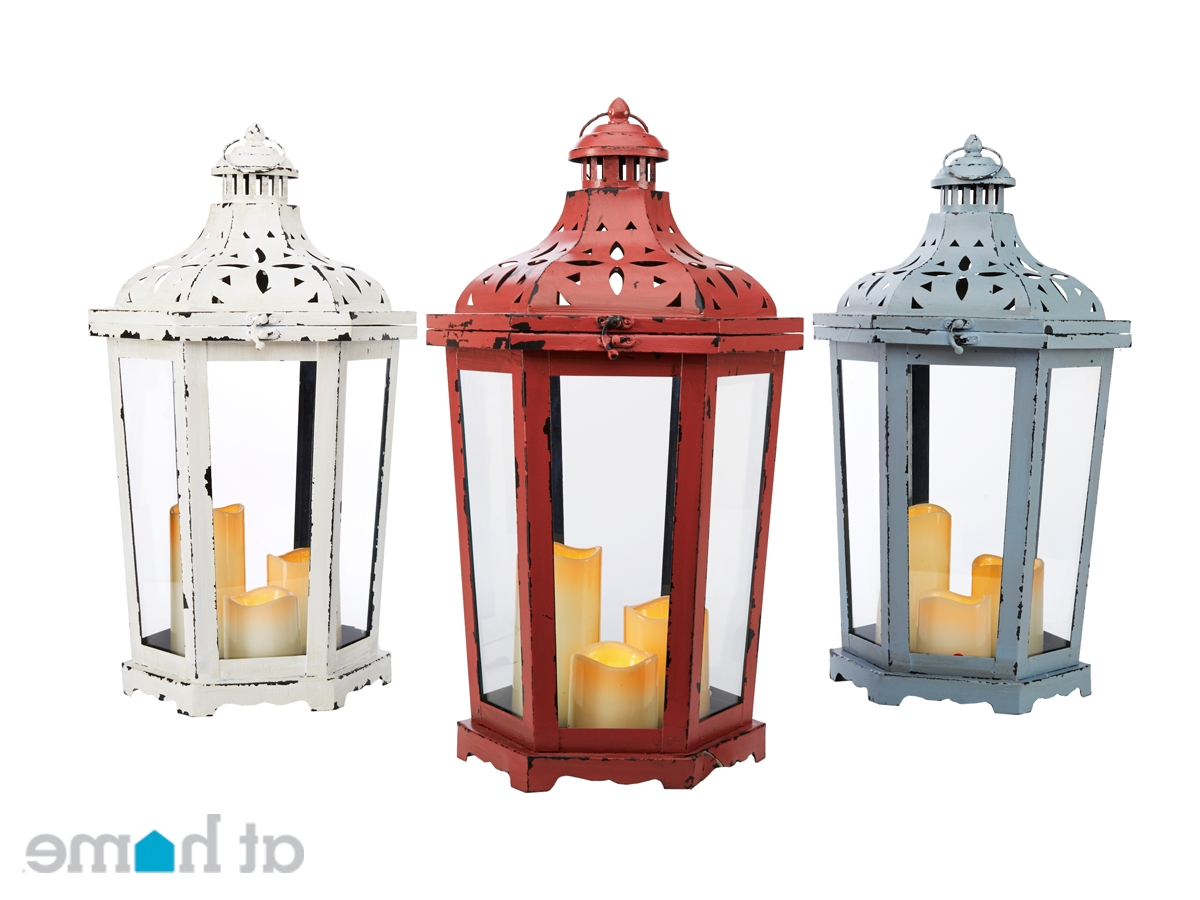 A Trio Of Red, White And Blue Outdoor Lanterns Can Brighten Up Any Throughout Well Liked Outdoor Memorial Lanterns (Gallery 4 of 20)