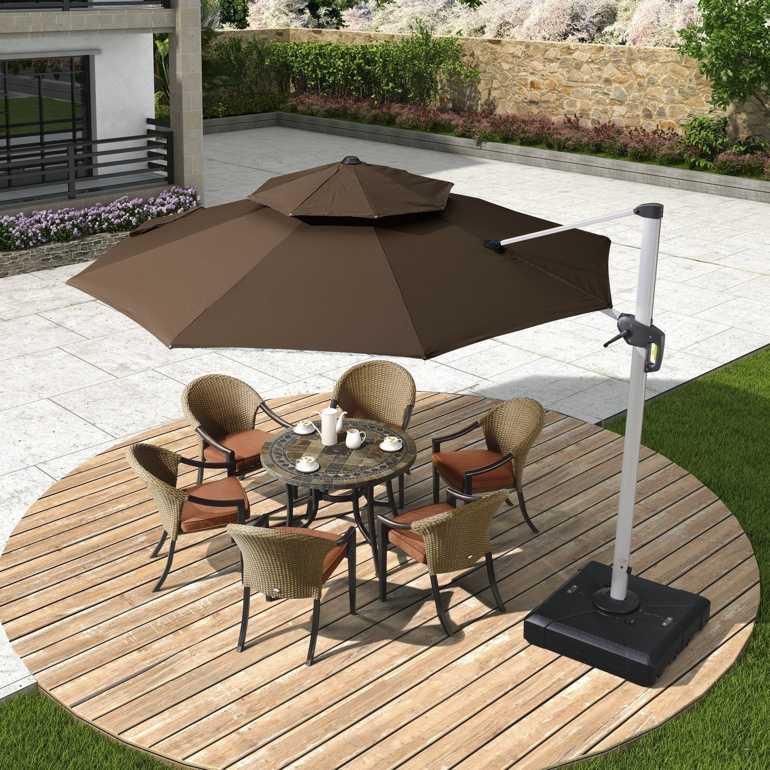 Amazon Patio Umbrellas Regarding Fashionable Patio Umbrellas Amazon – Nice 50 Expensive Summer Winds Patio (View 4 of 20)