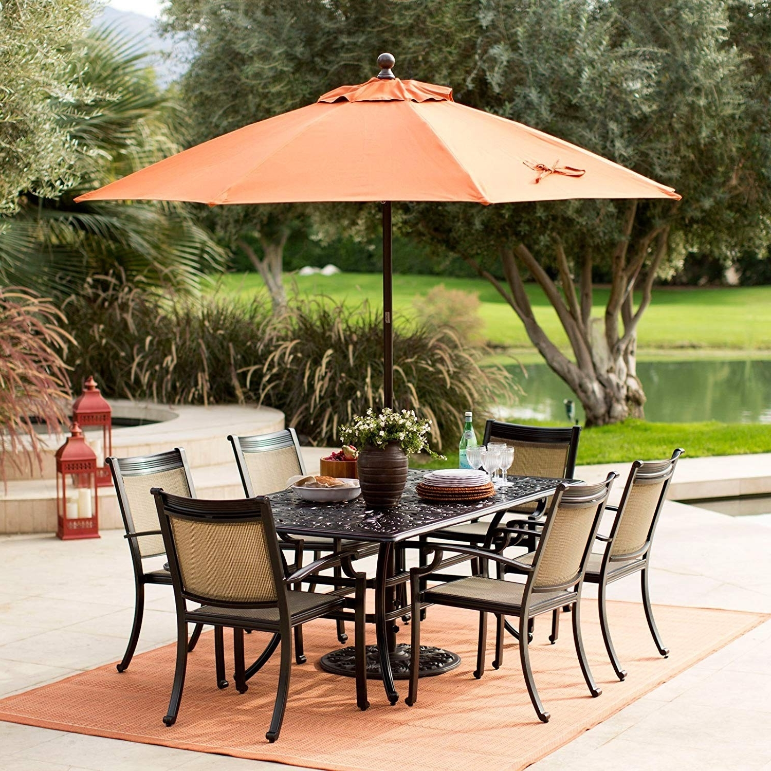 Amazon Patio Umbrellas Regarding Well Known Garden Treasures Patio Umbrella Reviews Unique Amazon Tourke 9Ft Led (Gallery 12 of 20)