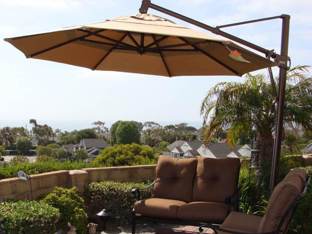 Amepac Furniture Regarding Cantilever Patio Umbrellas (Gallery 13 of 20)