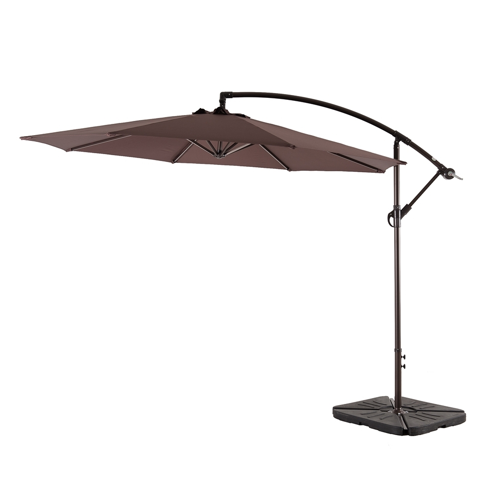 Amt Adjustable Offset Cantilever Hanging 10 Feet Patio Umbrella With In Well Known Hanging Patio Umbrellas (View 2 of 20)