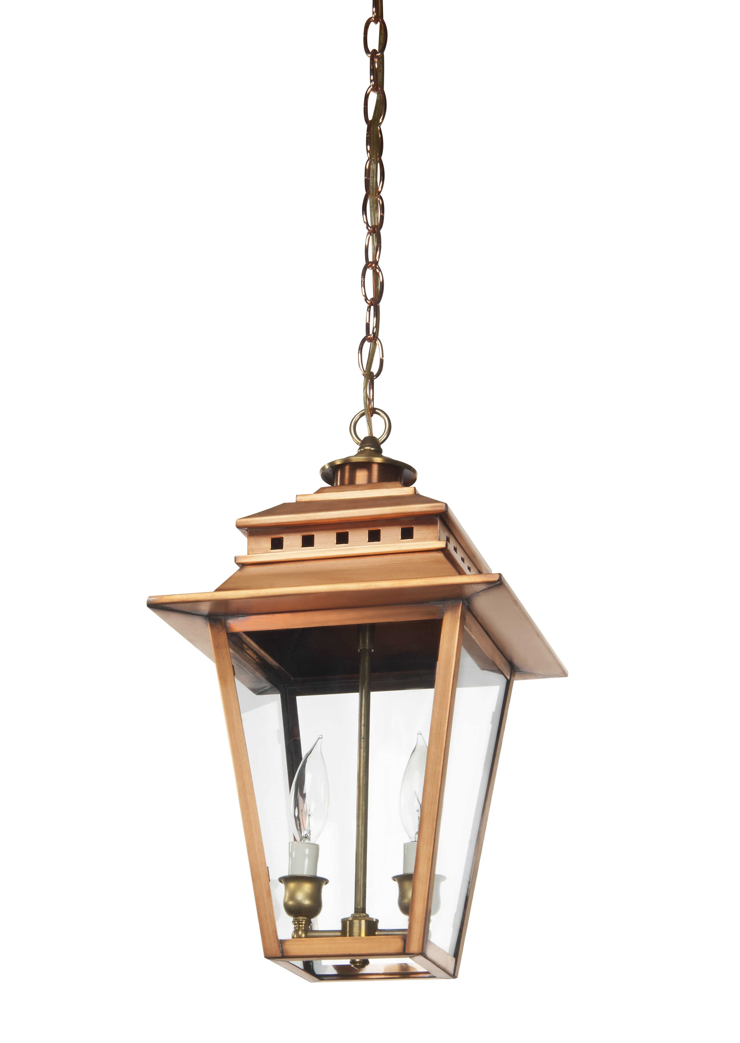 As 300 Copper Hanging Light – Lantern & Scroll (View 1 of 20)