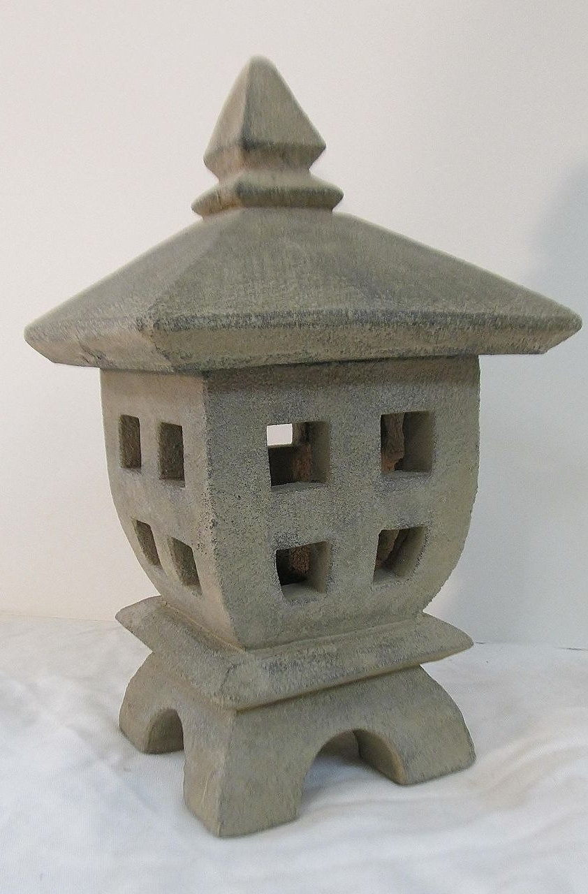 Asian Sculpture: Outdoor Living Areas For Fashionable Outdoor Japanese Lanterns For Sale (Gallery 16 of 20)