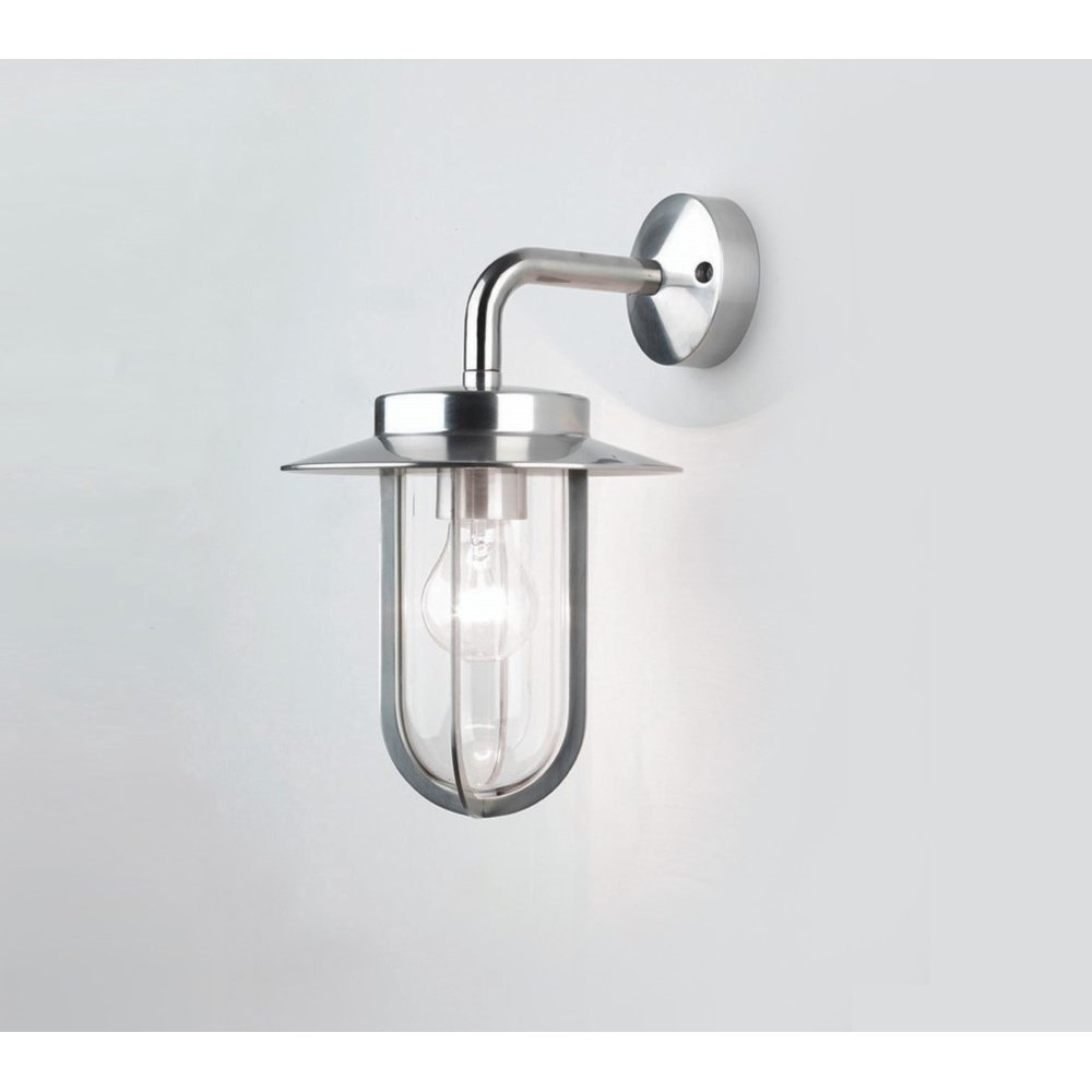 Astro Lighting 0484 Montparnasse Outdoor Wall Light Polished Nickel Intended For Current Outdoor Pir Lanterns (Gallery 10 of 20)