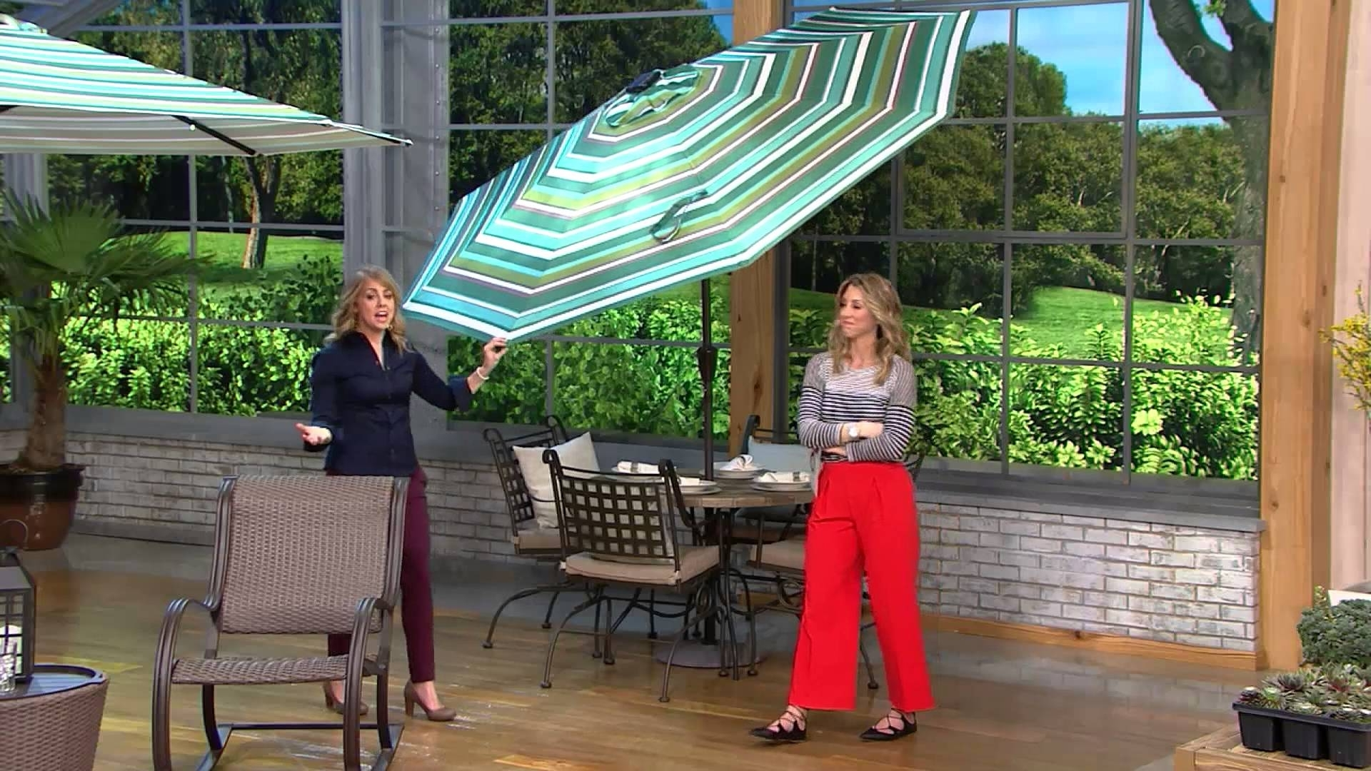 Atleisure 9' Light Solar Patio Umbrella With 44 Led's And Cover On For Recent Patio Umbrellas With Solar Lights (View 17 of 20)