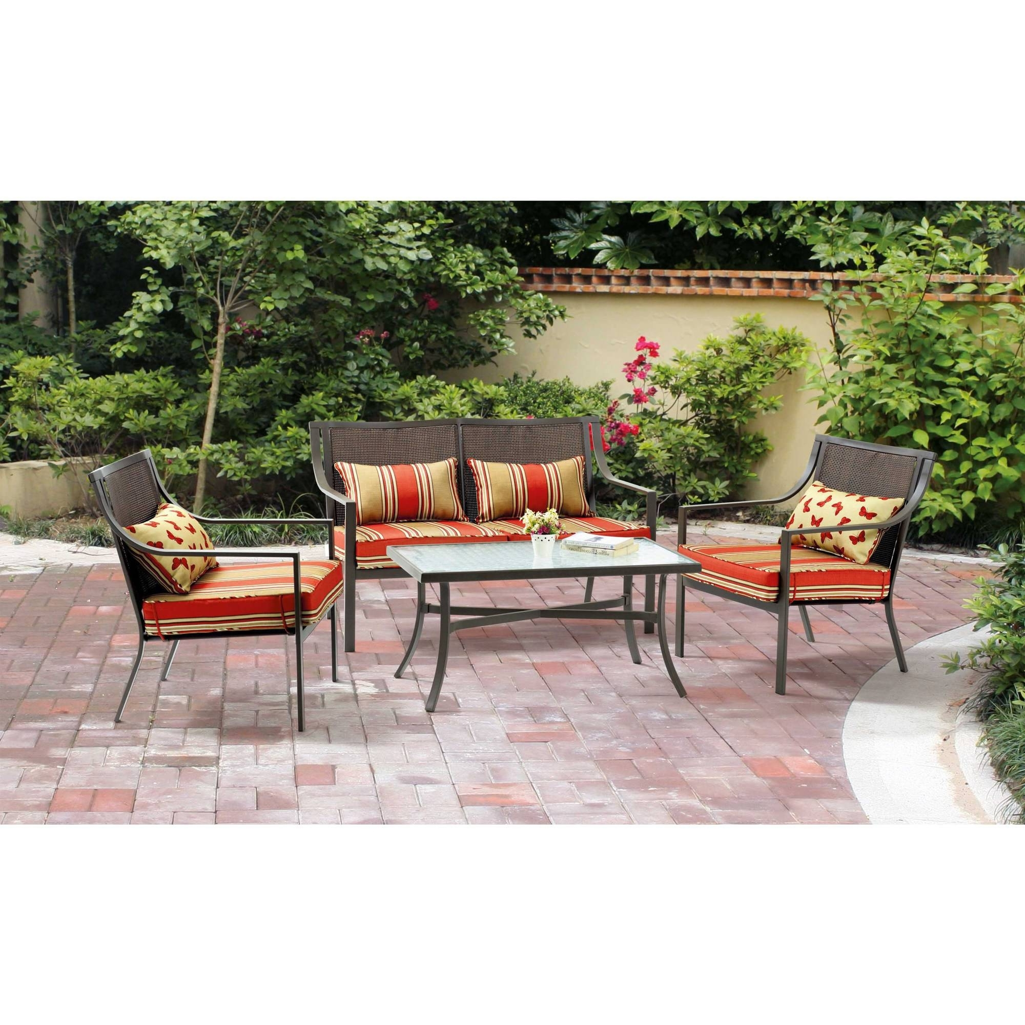 Baner Garden Outdoor Furniture Complete Patio Pe Wicker Rattan With Regard To 2019 Jewel Patio Umbrellas (Gallery 8 of 20)