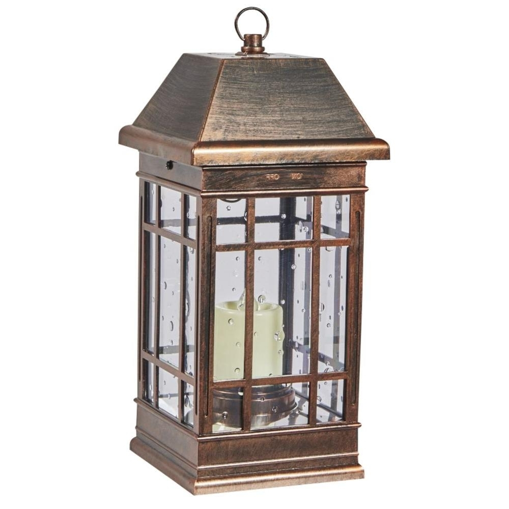 Battery – Outdoor Lamps – Outdoor Lighting – The Home Depot With Best And Newest Outdoor Lamp Lanterns (View 4 of 20)