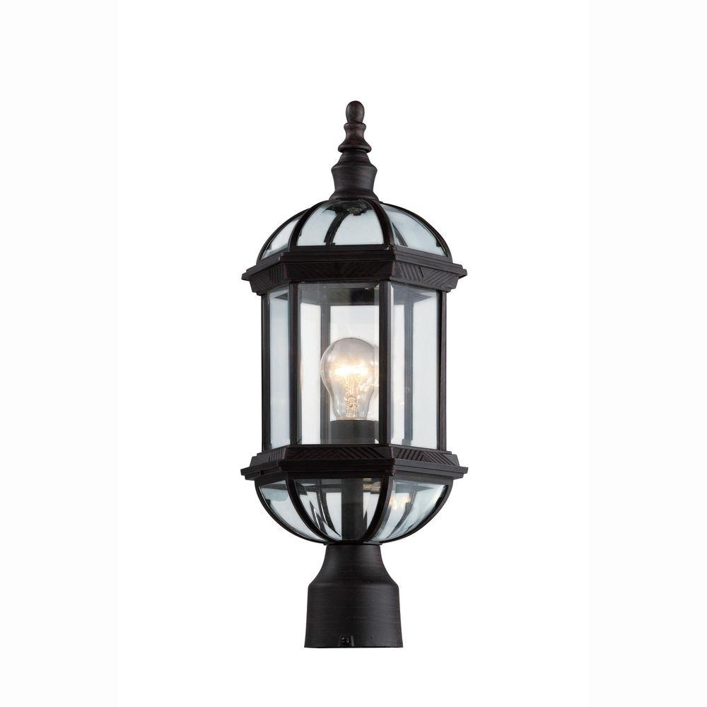 Bel Air Lighting – Post Lighting – Outdoor Lighting – The Home Depot With Famous Rust Proof Outdoor Lanterns (Gallery 7 of 20)