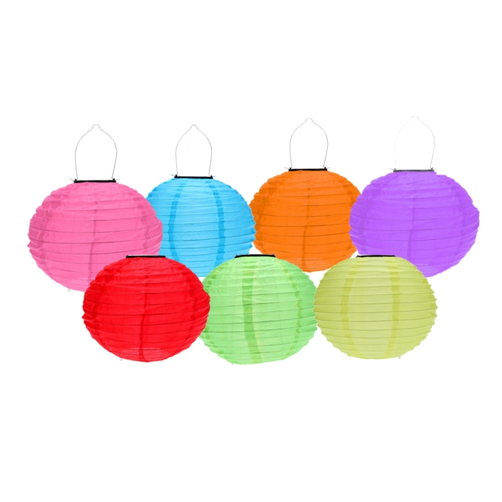 Best 10 Inch 7 Multi Color Solar Outdoor Chinese Lantern For Garden With Most Up To Date Yellow Outdoor Lanterns (View 2 of 20)
