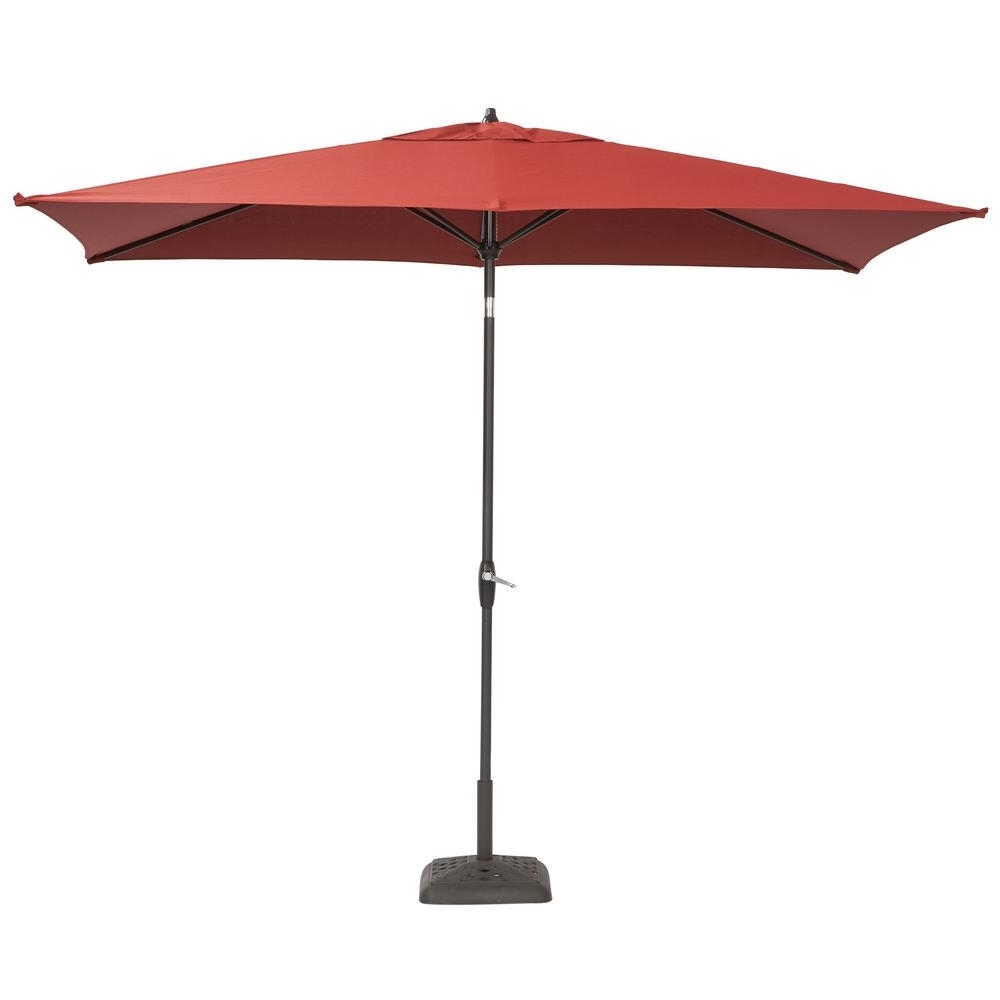 Best And Newest 10 Ft Patio Umbrellas In Home Decor: Amusing Rectangular Patio Umbrellas With Hampton Bay (View 20 of 20)