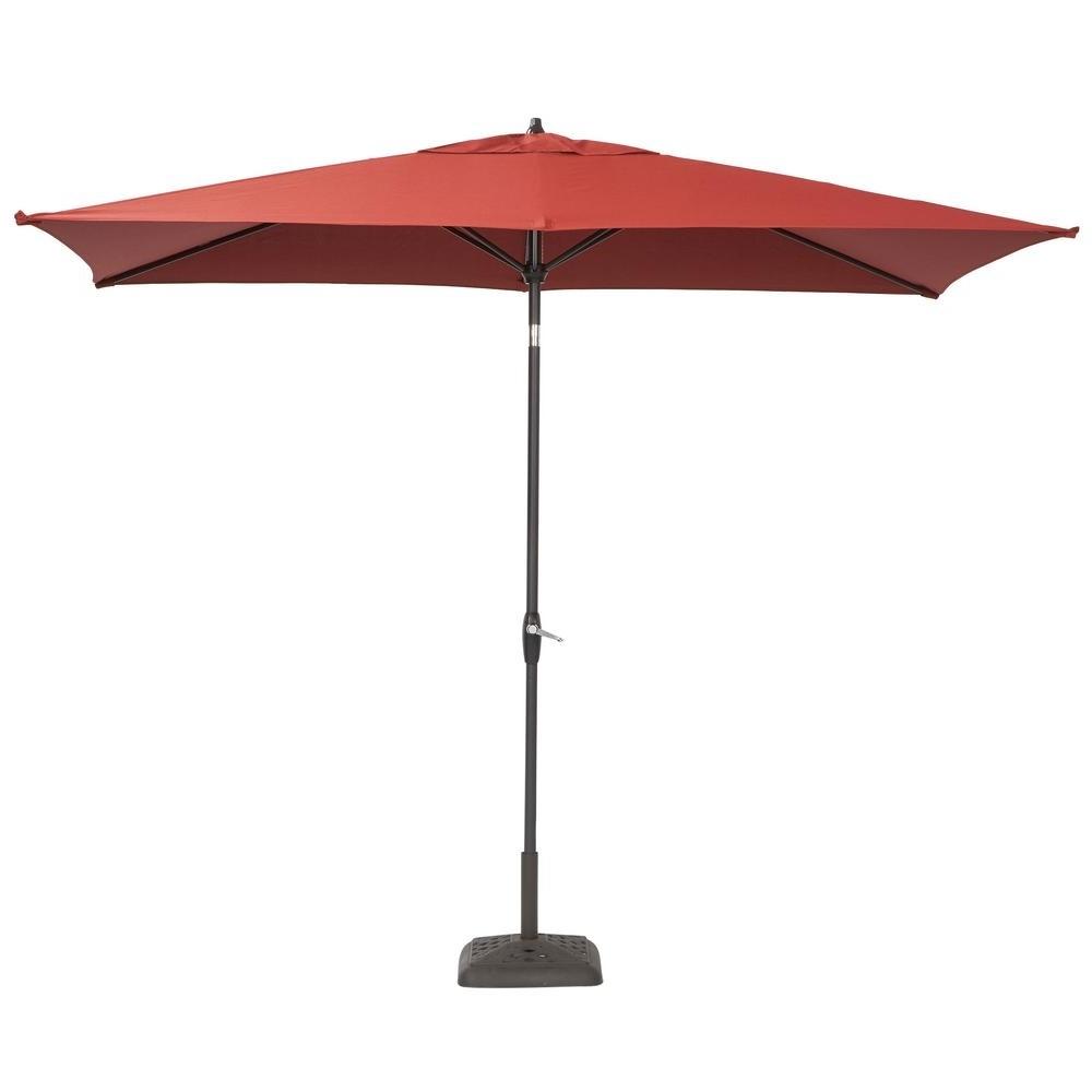 Best And Newest 10 Ft Patio Umbrellas In Home Decor: Amusing Rectangular Patio Umbrellas With Hampton Bay  (View 6 of 20)