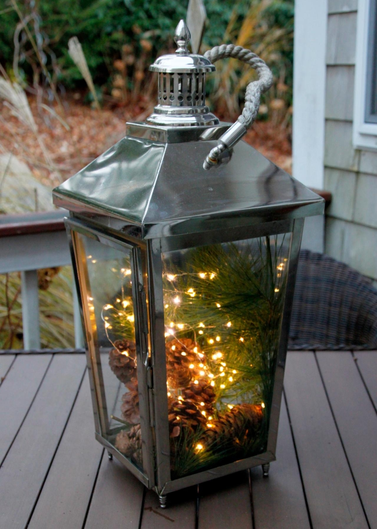 Best And Newest Front Porch Christmas Decorating Ideas Country Mini Lights ~ Clipgoo Regarding Outdoor Lanterns Decors (View 2 of 20)