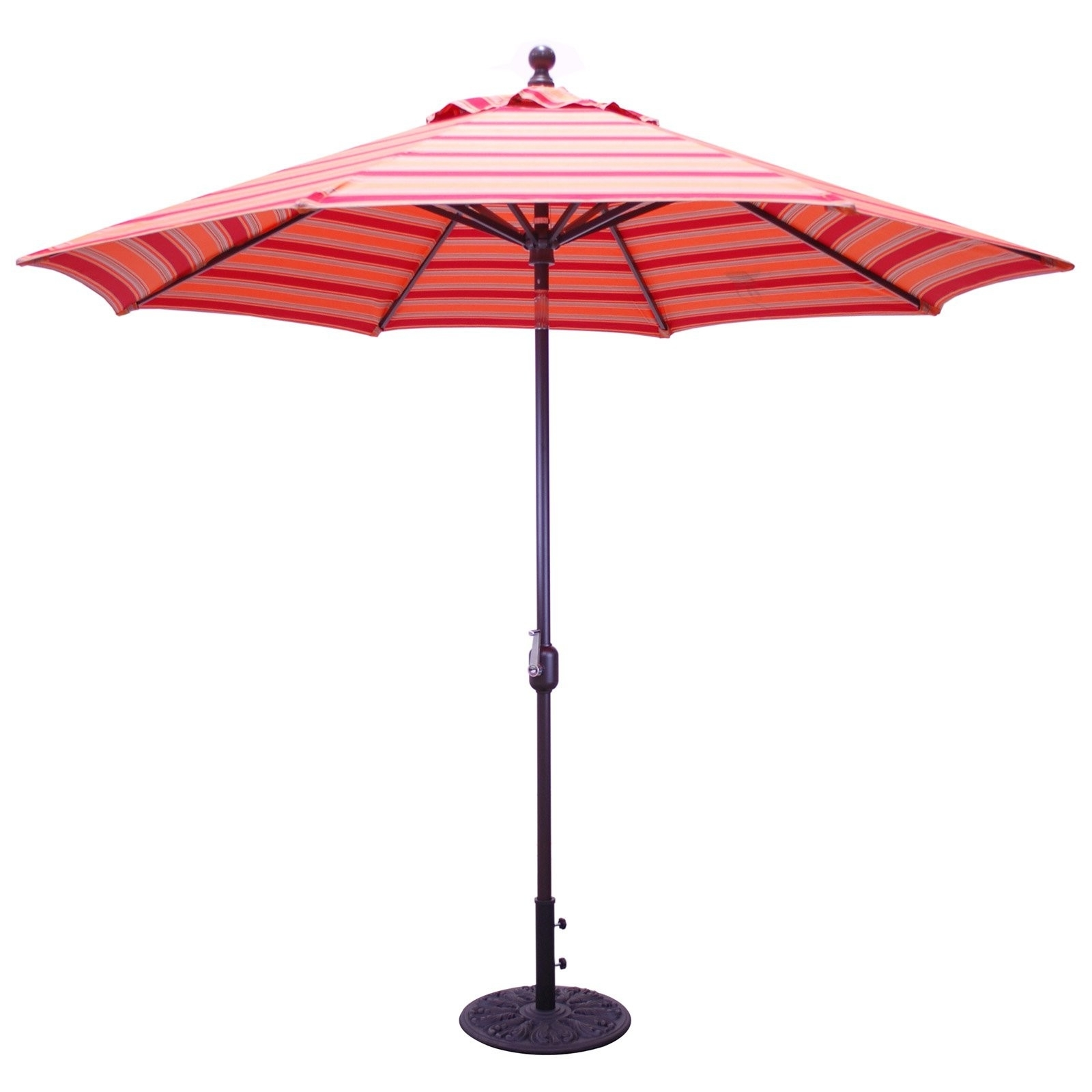 Best And Newest Galtech 9 Ft Sunbrella Aluminum Deluxe Auto Tilt Patio Umbrella With Regard To Sunbrella Patio Table Umbrellas (View 2 of 20)