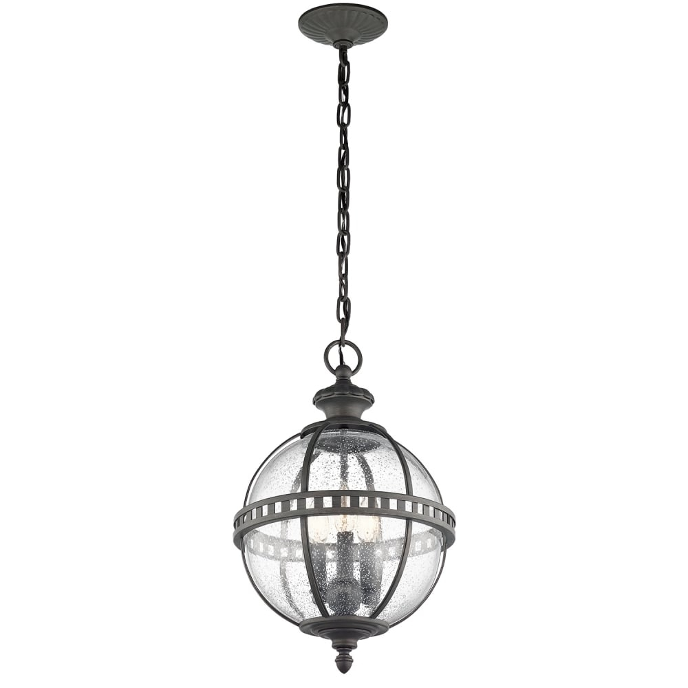 Best And Newest Outdoor Globe Lanterns With Victorian Globe Style Exterior Hanging Lantern In Londonderry Finish (View 2 of 20)