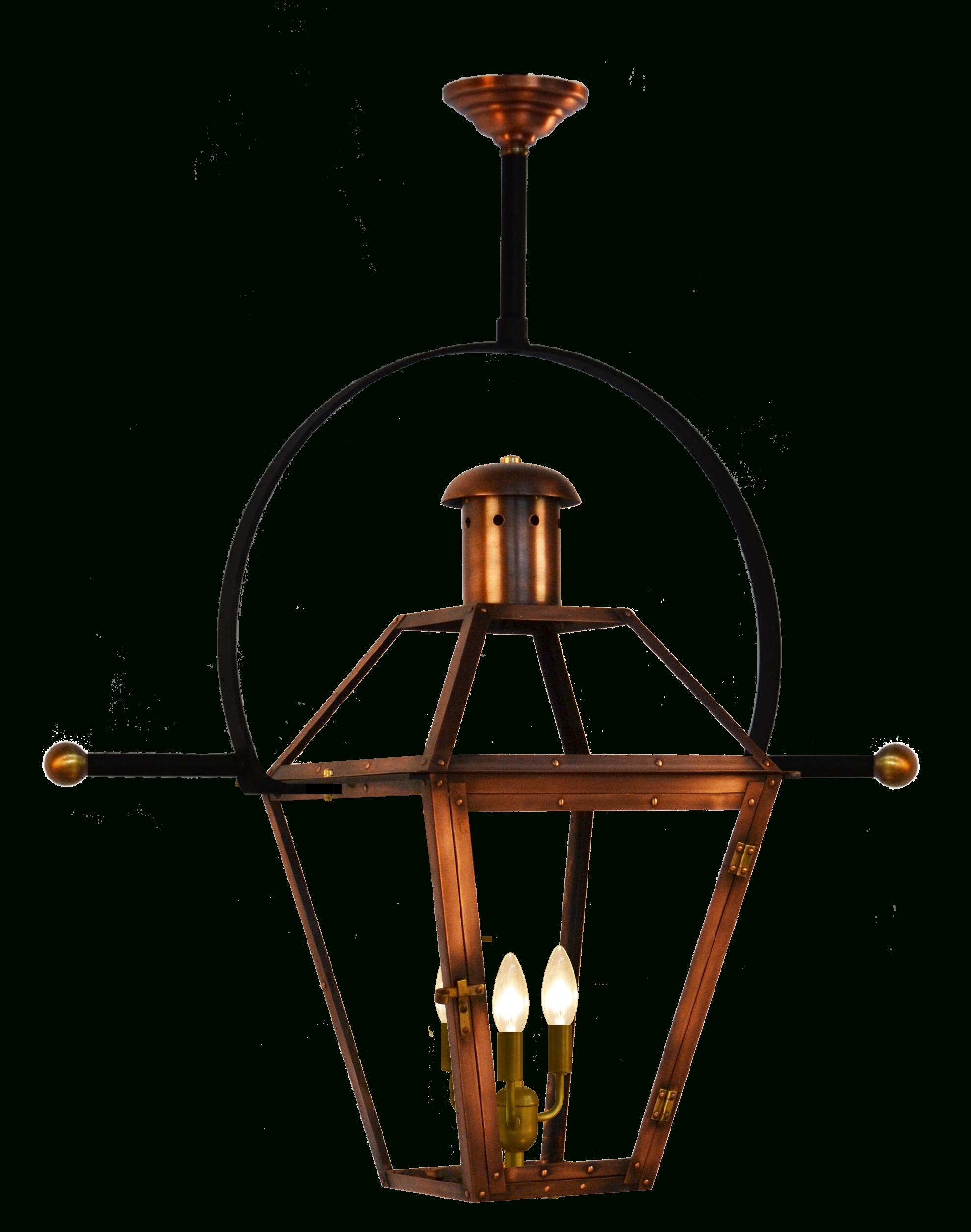 Best And Newest Outdoor Hanging Electric Lanterns Throughout Georgetown Gas Or Electric Copper Lantern – French Market Lanterns (View 4 of 20)