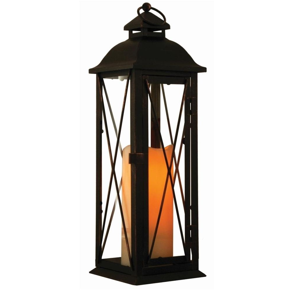 Best And Newest Outdoor Timer Lanterns With Regard To Smart Design Siena 16 In (View 5 of 20)