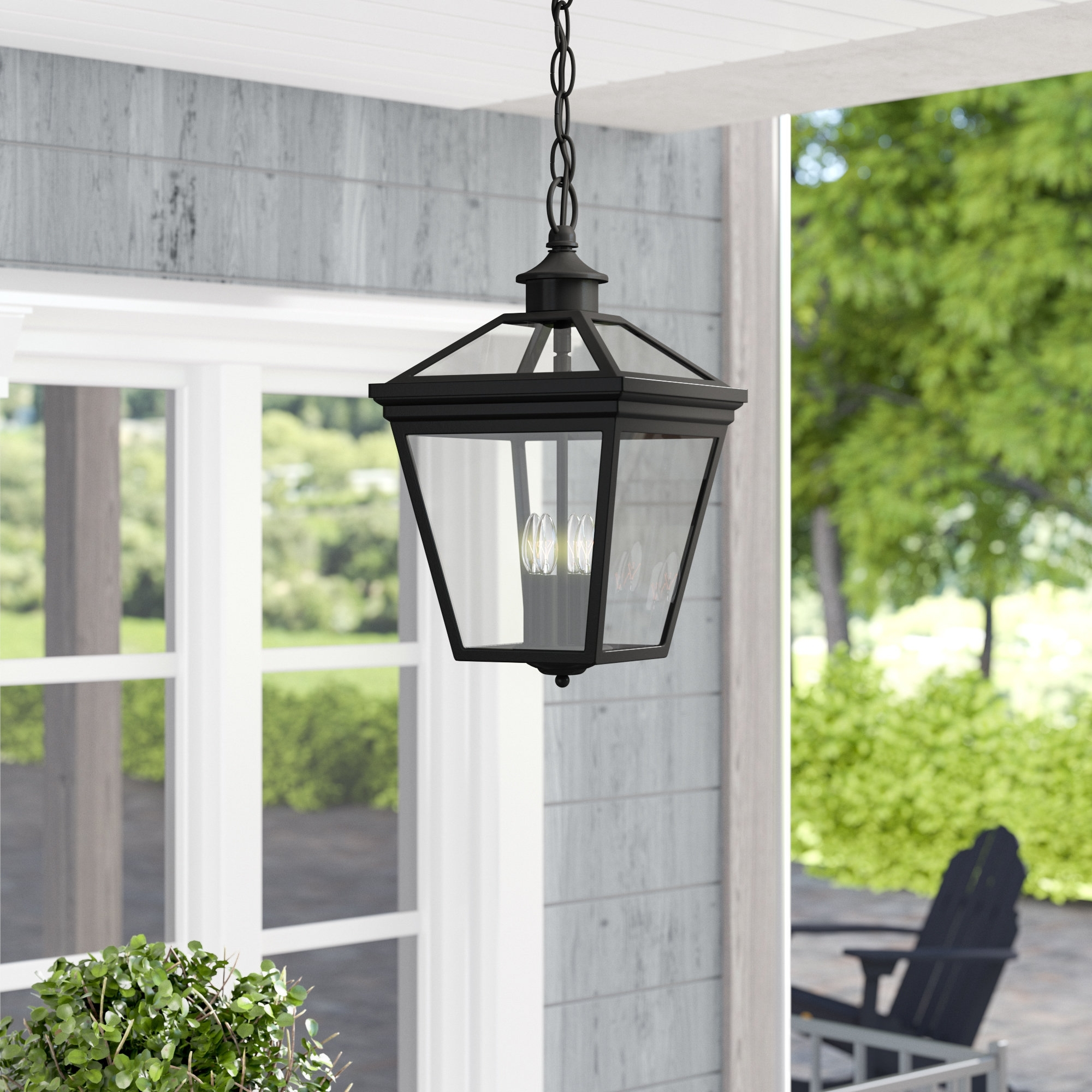 Best And Newest Outdoor Vinyl Lanterns Throughout Darby Home Co Coleg 4 Light Outdoor Hanging Lantern & Reviews (View 10 of 20)