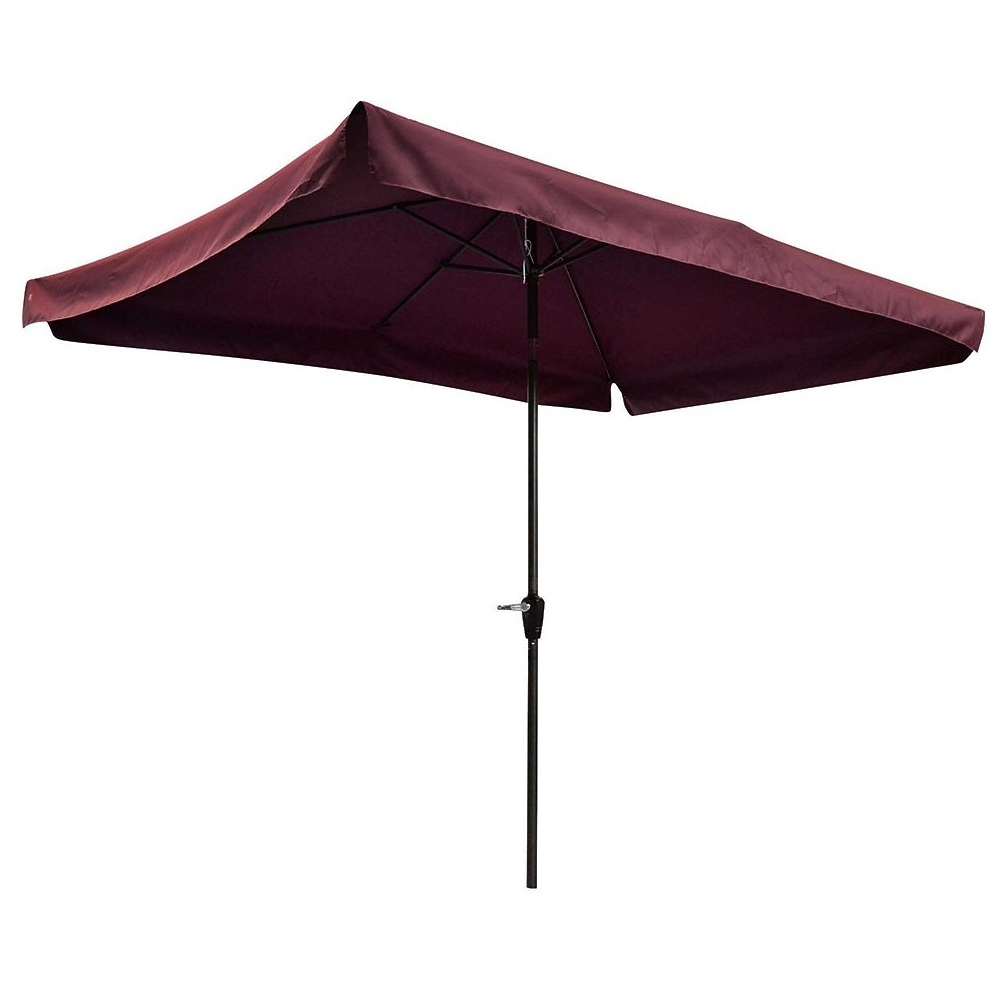Best And Newest Patio Umbrellas With Valance Intended For Yescom 10X65Ft 2X3M Rectangle Aluminum Patio Umbrella With Valance (Gallery 20 of 20)