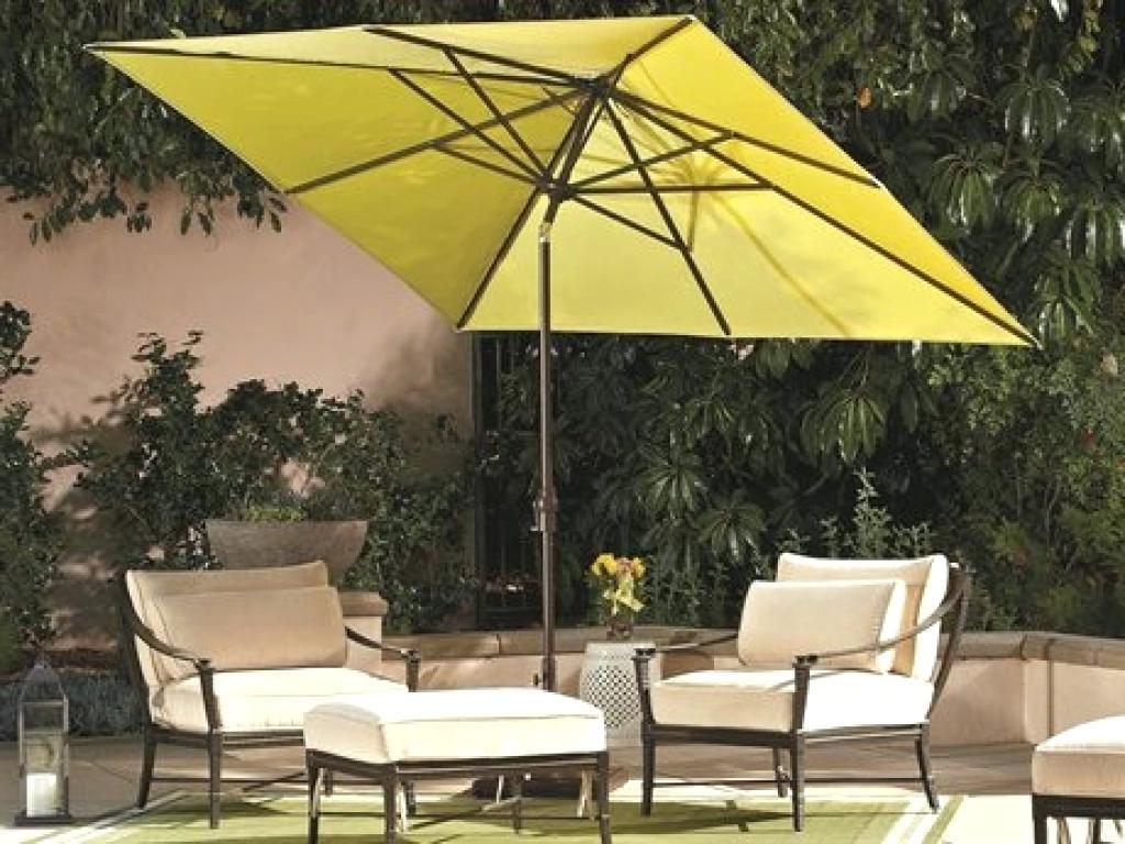 Best And Newest Rectangular Patio Umbrellas Rectangle Umbrella Uk Porch Garden Nice Pertaining To Rectangular Patio Umbrellas (Gallery 11 of 20)