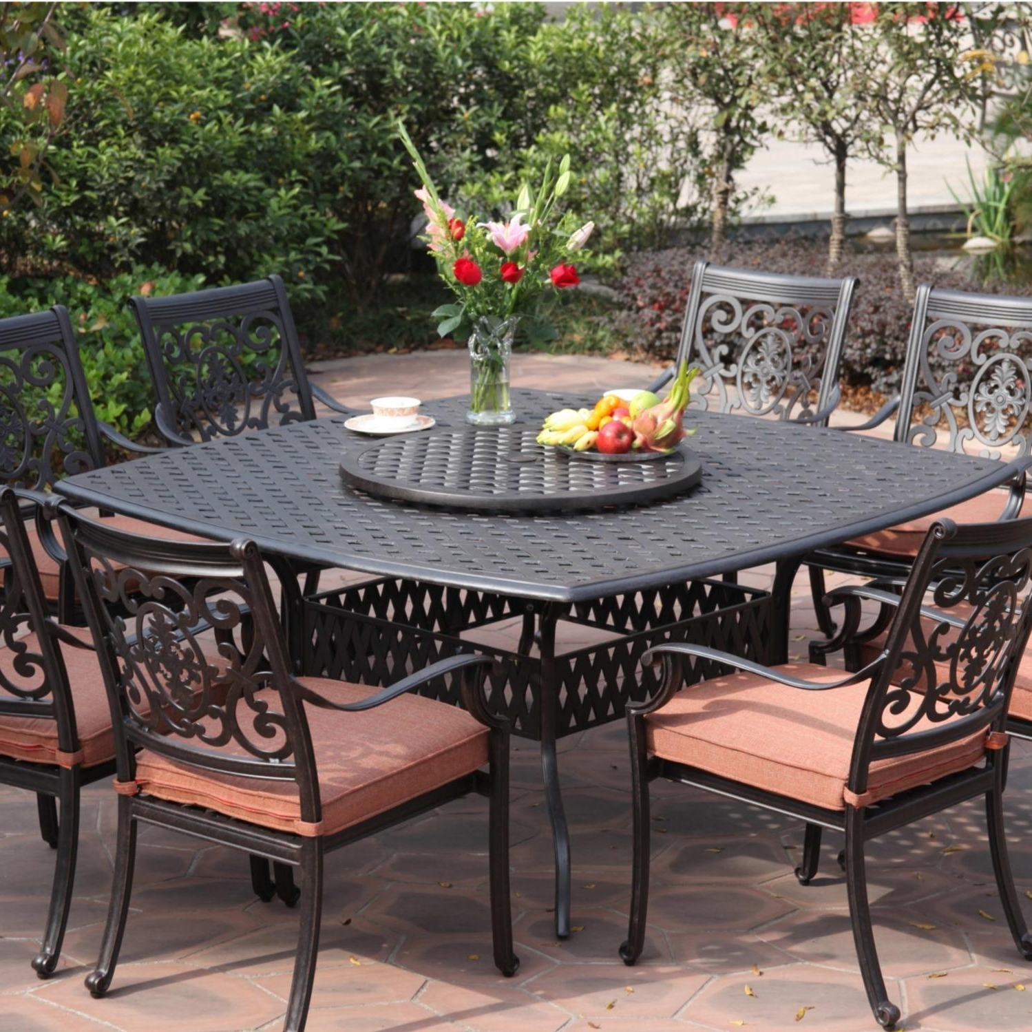 Best And Newest Small Patio Furniture Rectangular Table With Umbrella Hole 72 Round Pertaining To Small Patio Tables With Umbrellas Hole (View 4 of 20)