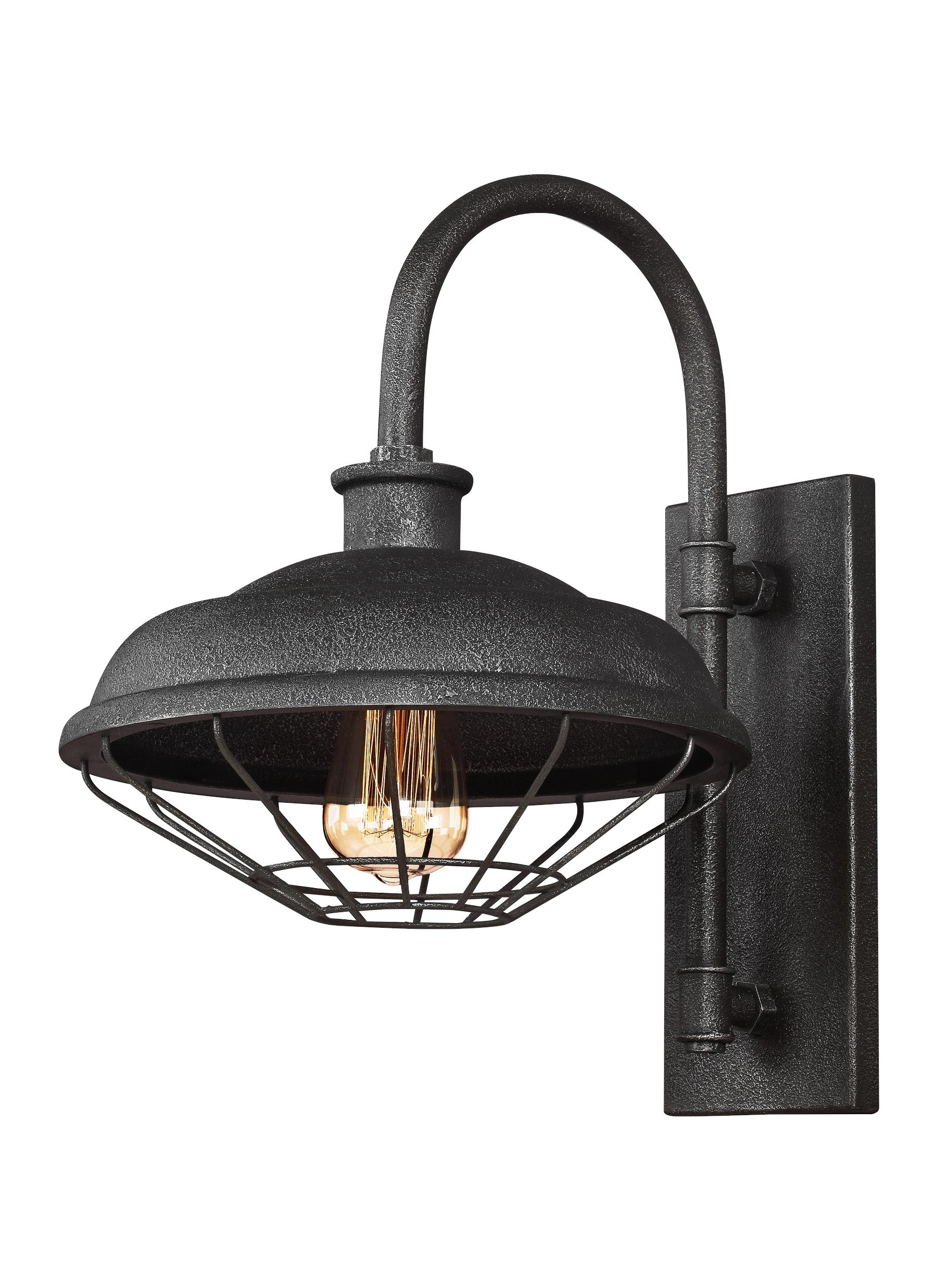 Best And Newest Wb1828Sgm,1 – Light Indoor / Outdoor Wall Lantern,slate Grey Metal Within Outdoor Grey Lanterns (View 3 of 20)