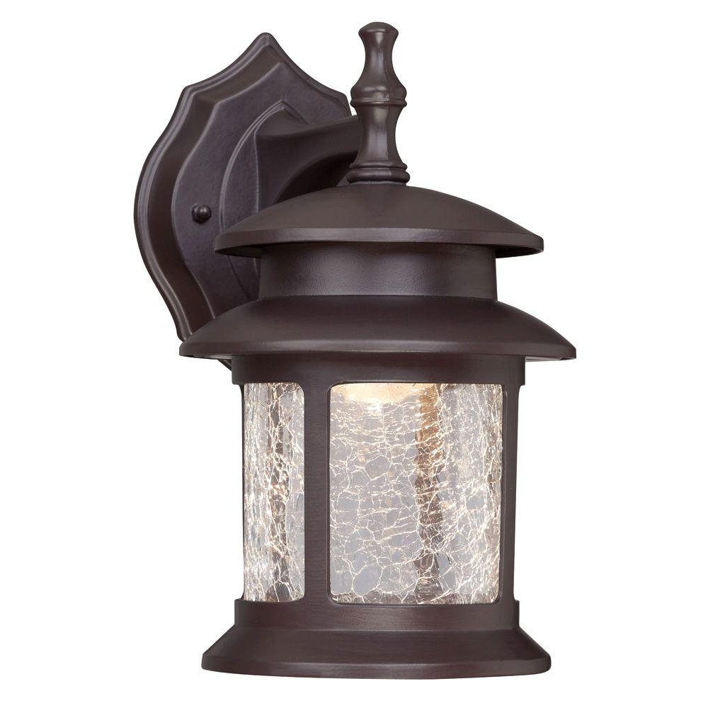 Best And Newest Westinghouse 1 Light Oil Rubbed Bronze Outdoor Integrated Led Wall Regarding Outdoor Oil Lanterns (Gallery 3 of 20)