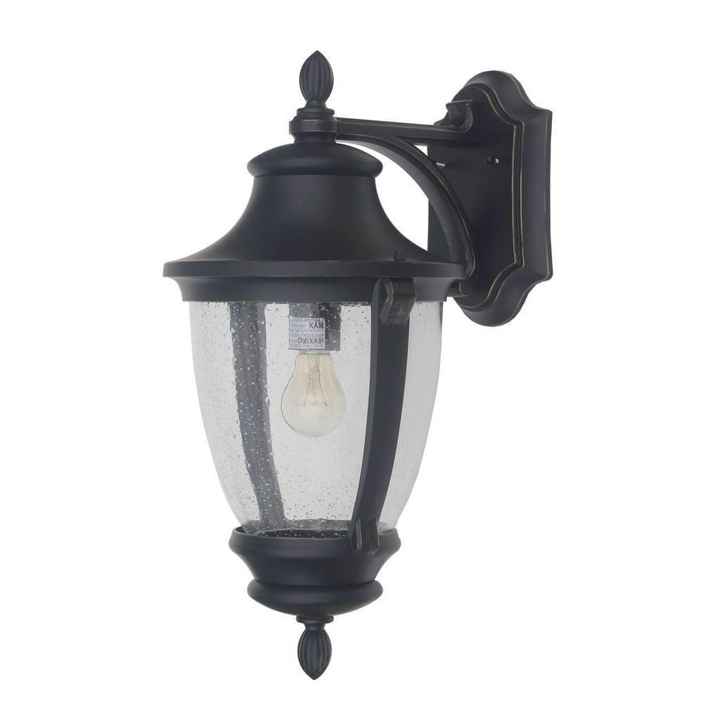 Best And Newest Wilkerson 1 Light Black Glass Outdoor Lantern Wall Mount Lighting With Regard To Wall Mounted Outdoor Lanterns (View 19 of 20)