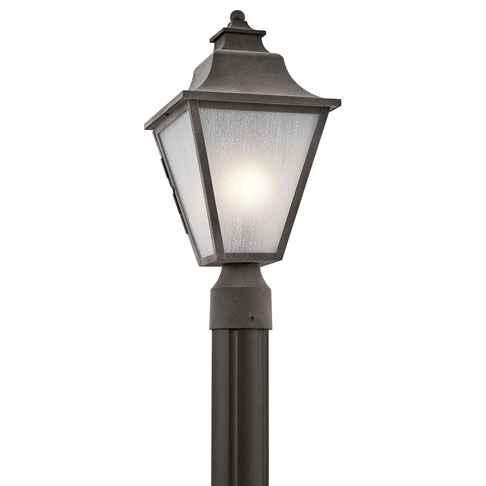 Best And Newest Zinc Outdoor Lanterns Pertaining To Kichler 49705wzc Northview Weathered Zinc Outdoor Lamp Post Light (View 20 of 20)