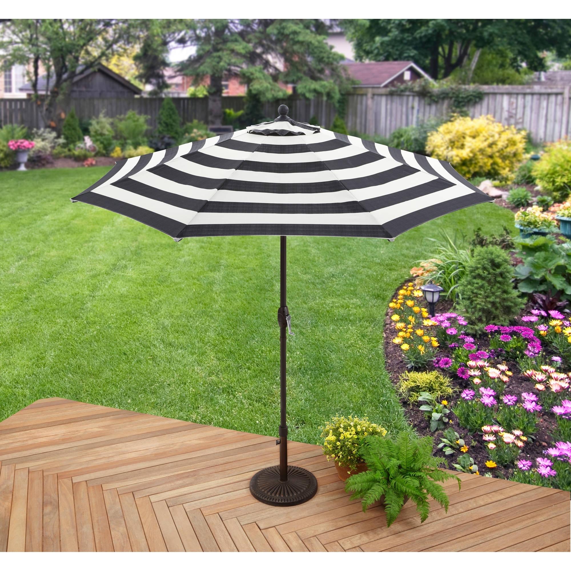 Better Homes And Gardens 9' Market Umbrella, Cabana Stripe – Walmart Regarding Widely Used Custom Sunbrella Patio Umbrellas (View 13 of 20)