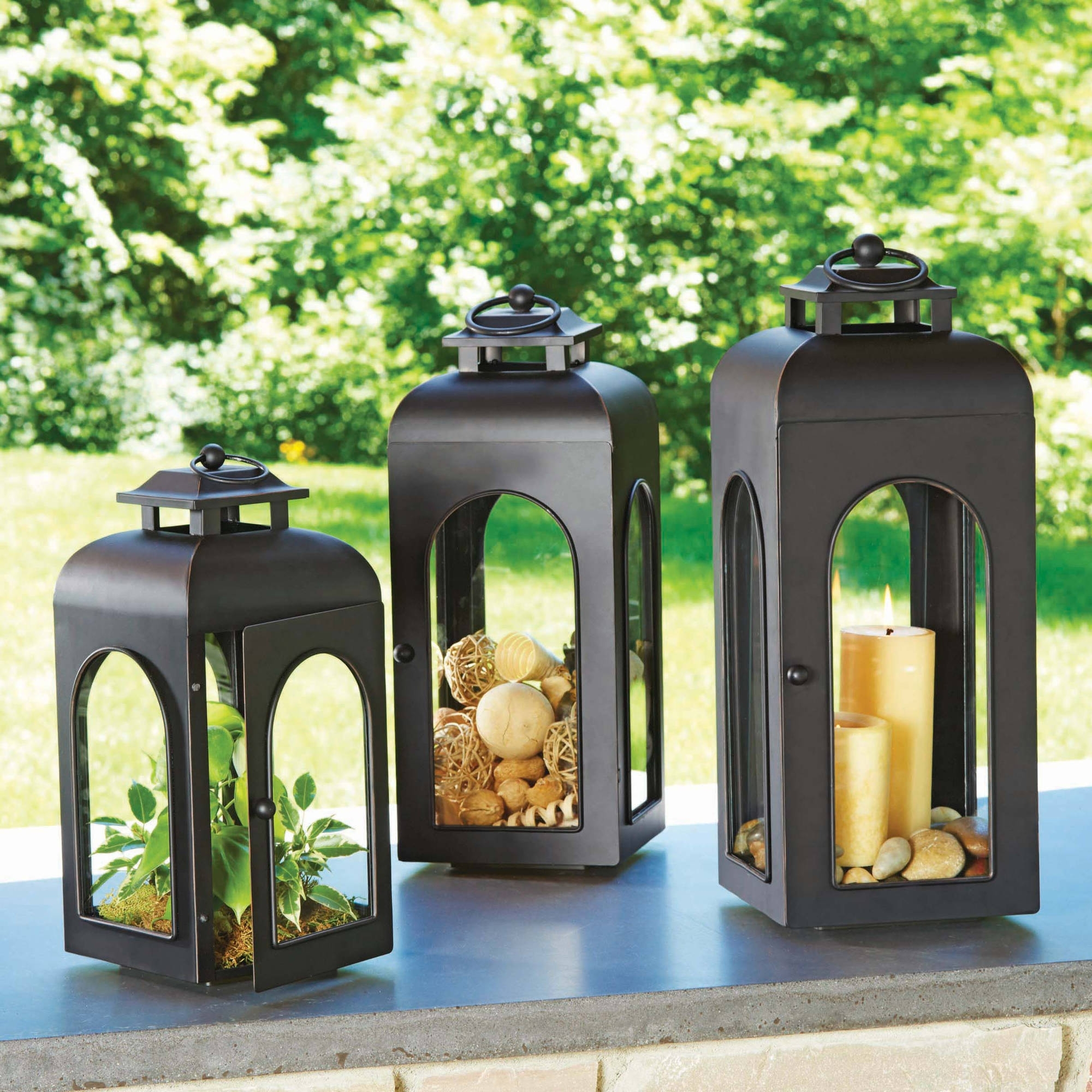 Better Homes And Gardens Domed Metal Outdoor Lantern – Walmart Inside Most Up To Date Outdoor Lanterns (View 19 of 20)