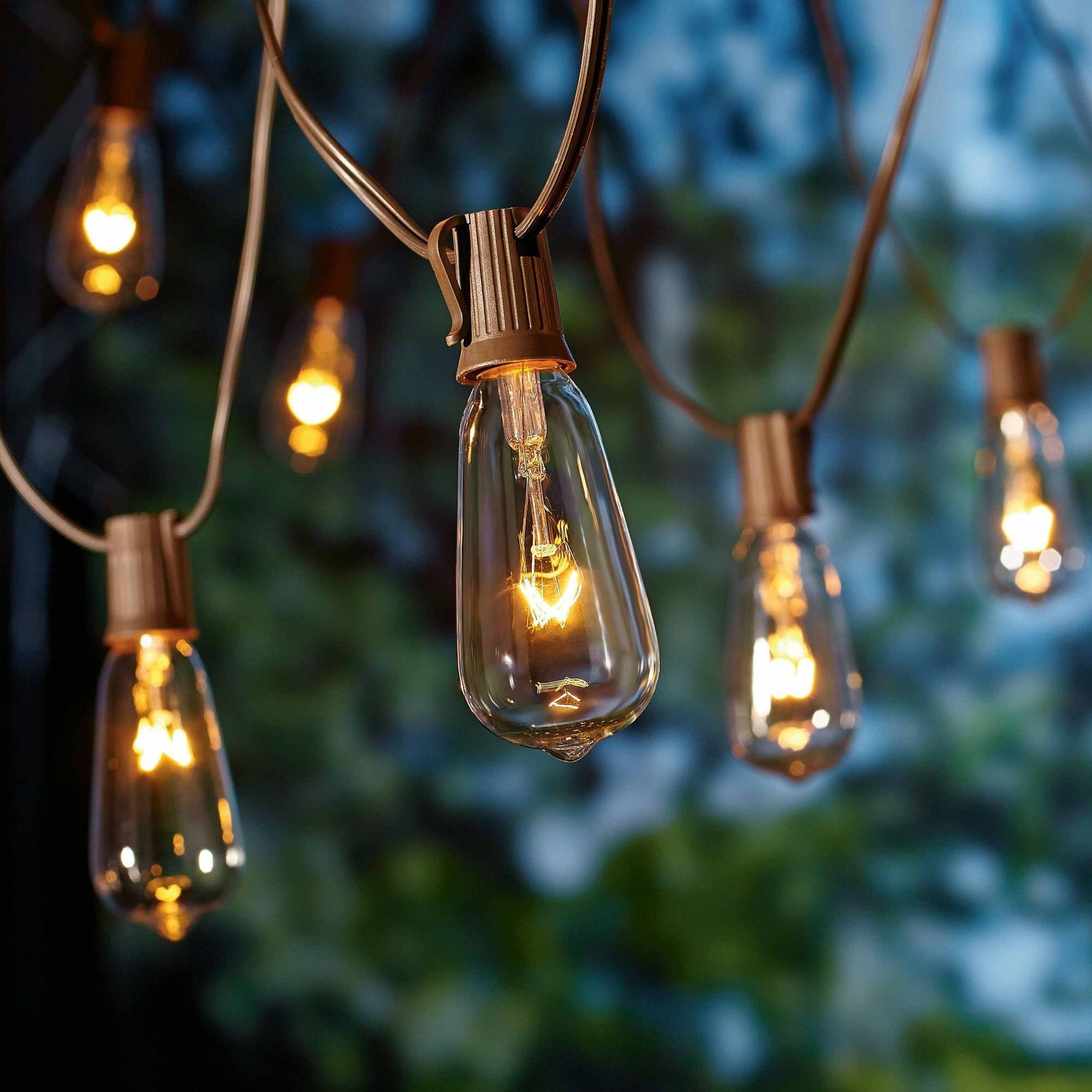 Better Homes And Gardens Outdoor Glass Edison String Lights, 10 With Regard To Best And Newest Walmart Outdoor Lanterns (Gallery 2 of 20)