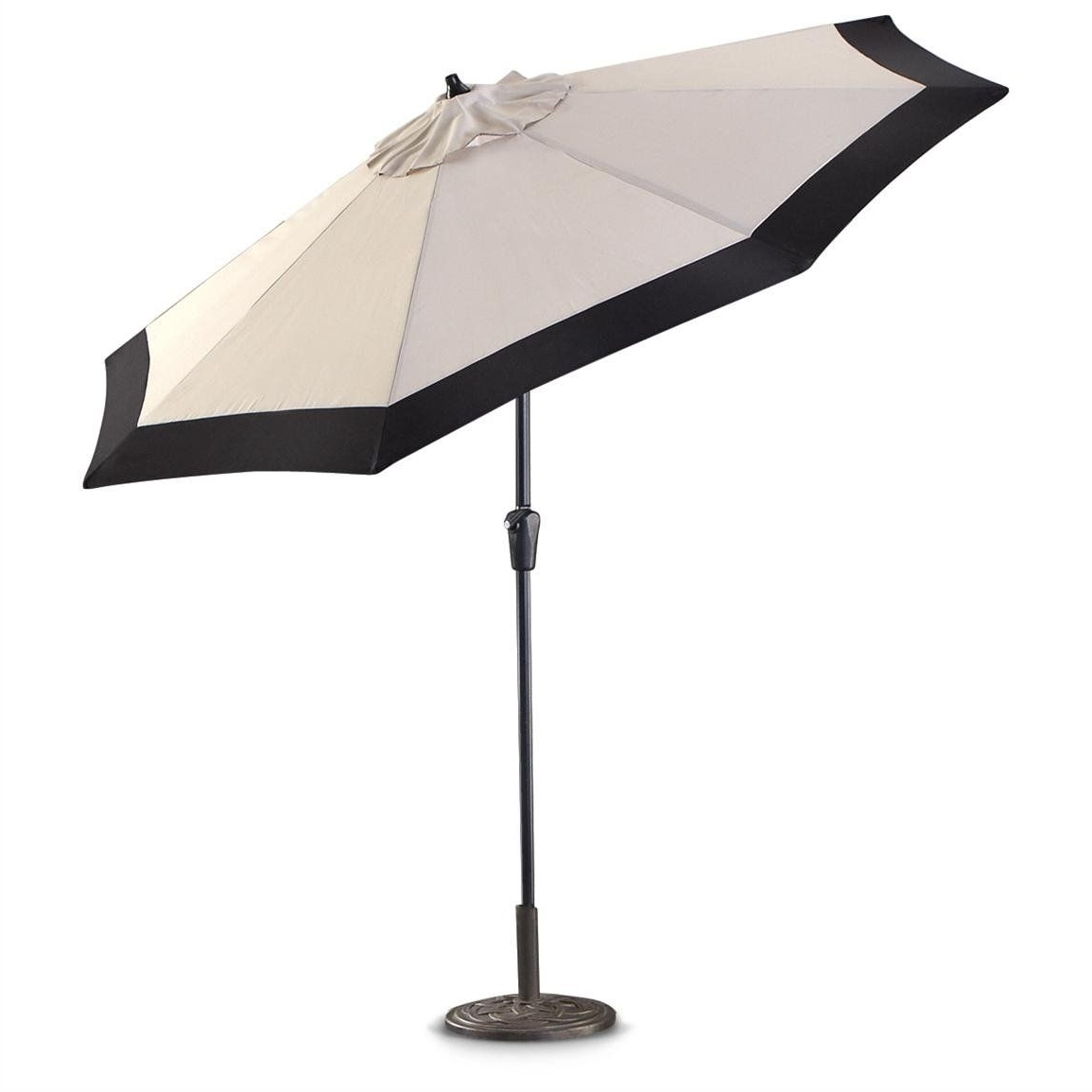Black And White Patio Umbrellas Throughout Most Popular White Patio Umbrellas #5: Castlecreek 9 Two Tone Deluxe Market Patio (View 7 of 20)